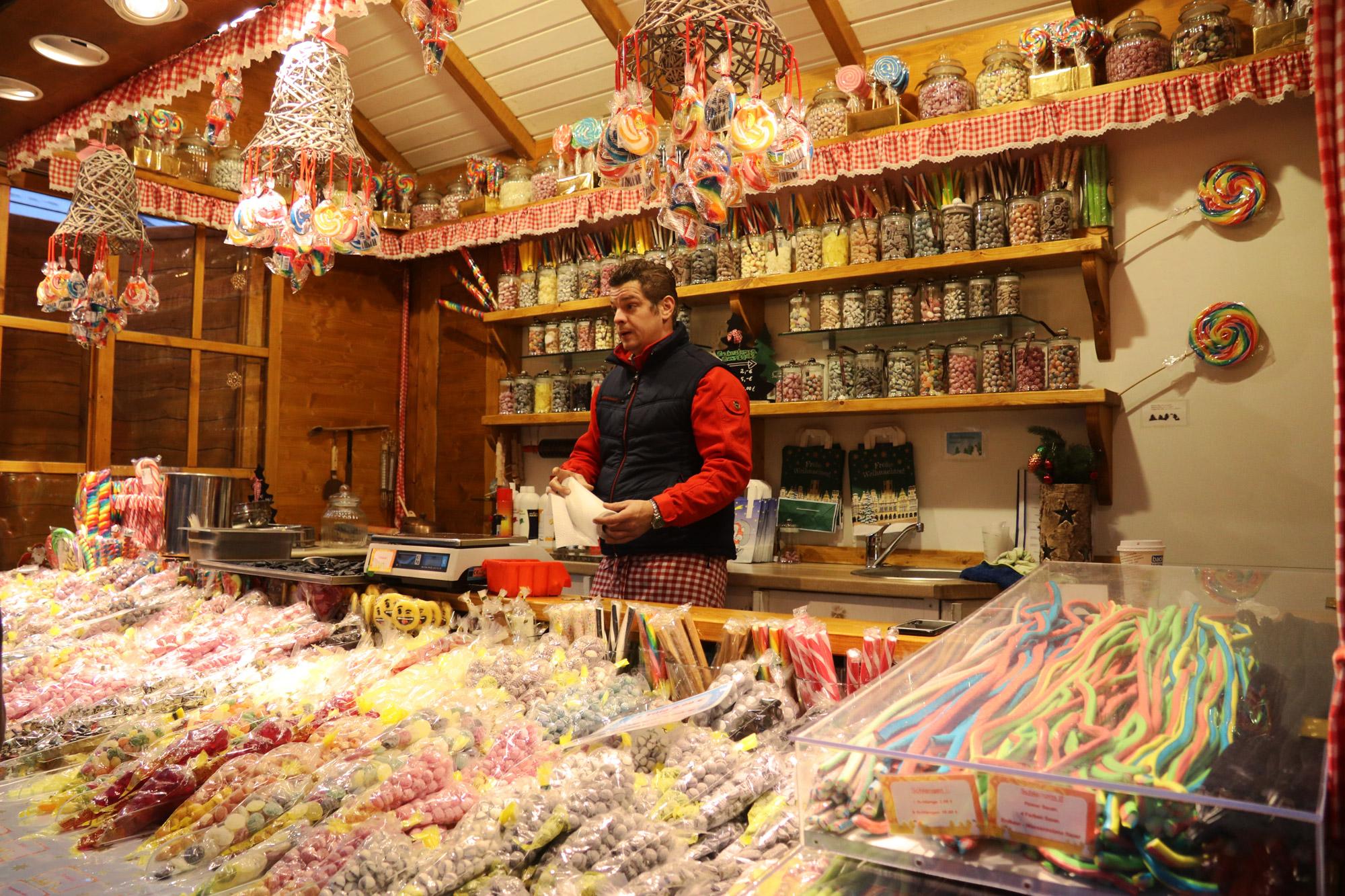Münster kerstmarkt - Snoepgoed