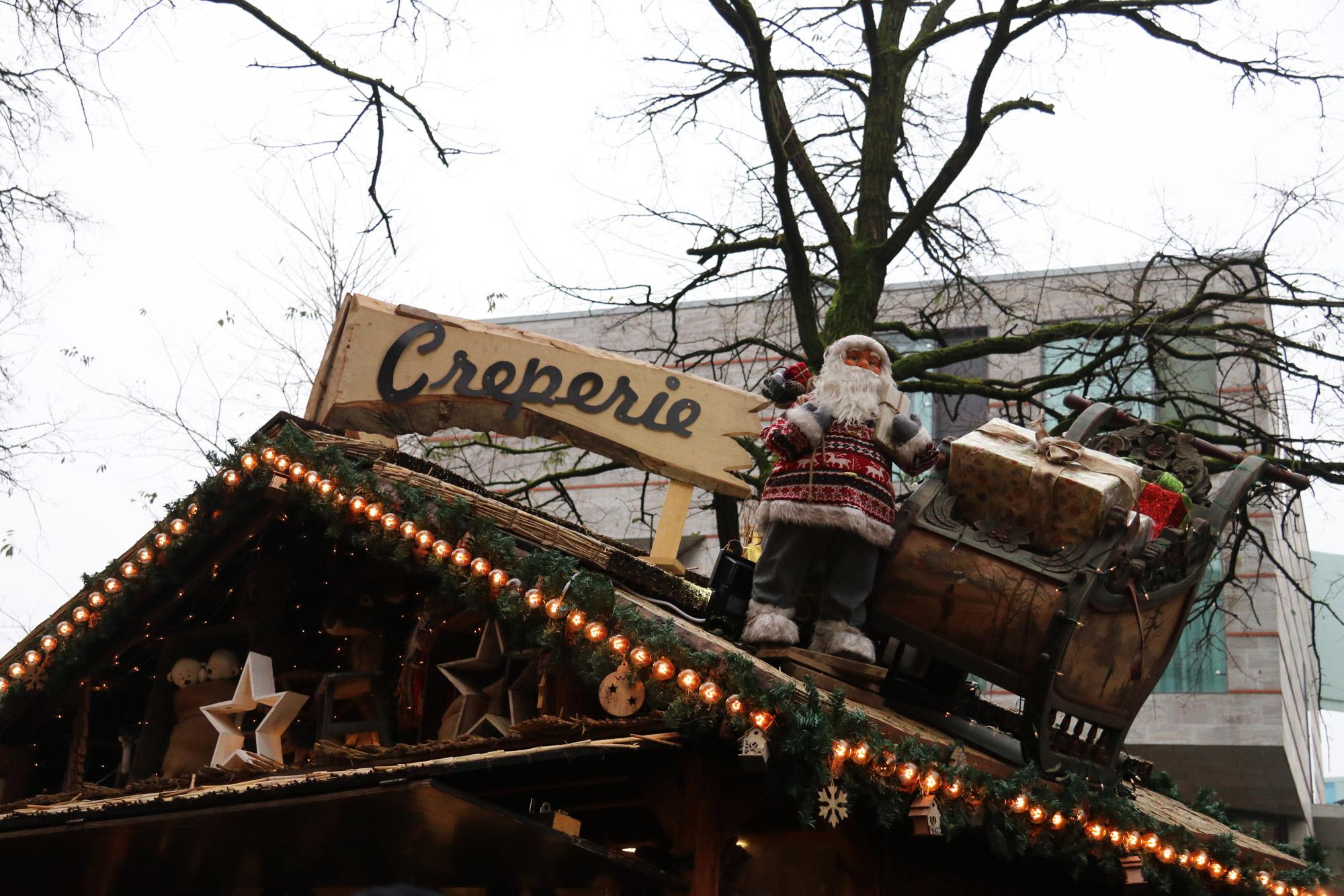 Münster kerstmarkt - Versierde stands