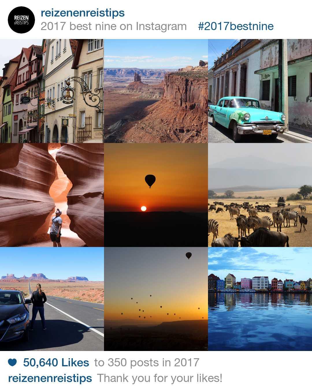 De populairste Instagram foto's van Reizen & Reistips in 2017