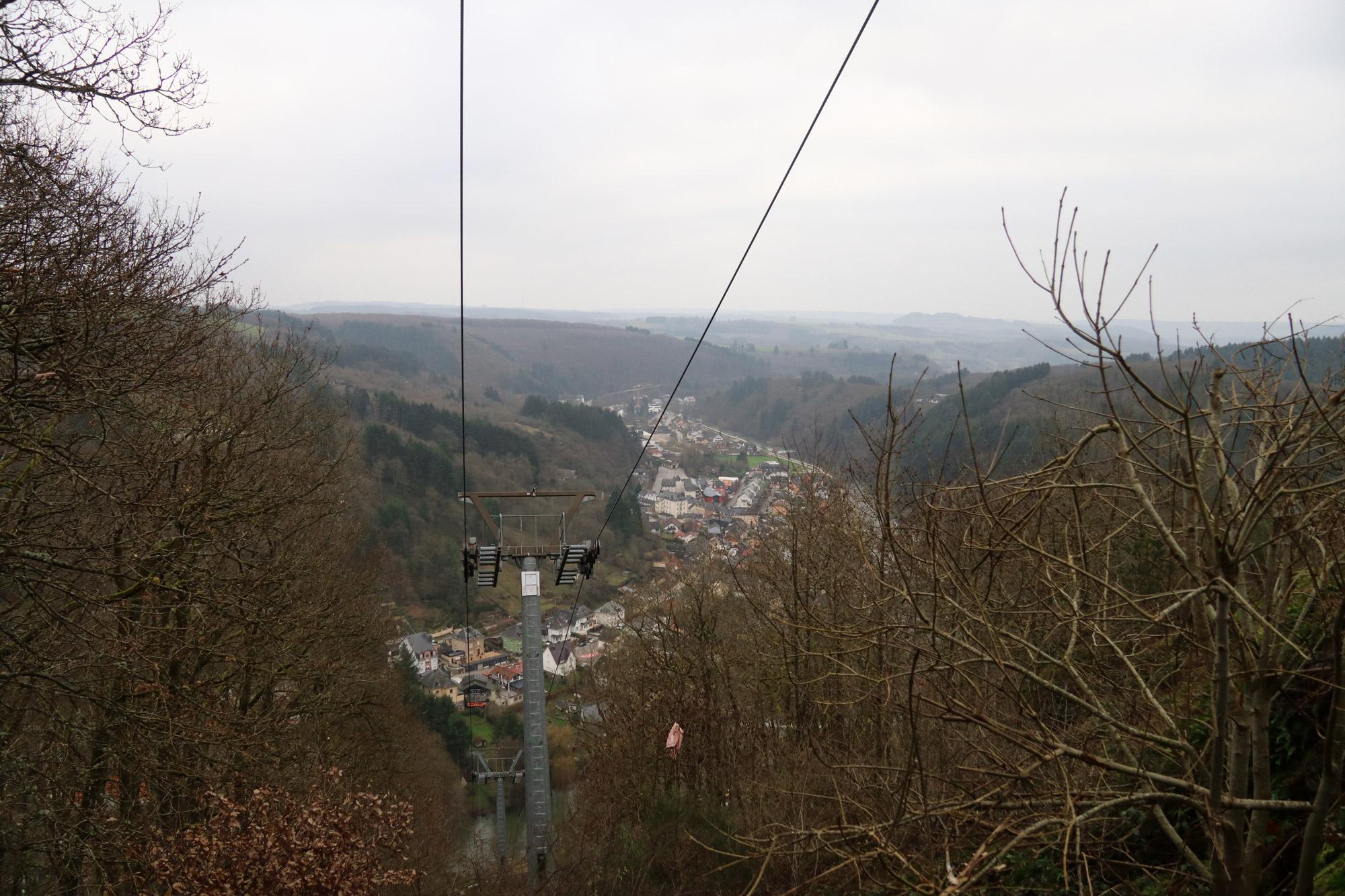 5x doen in Vianden - Naar het panorama uitzicht met de stoeltjeslift