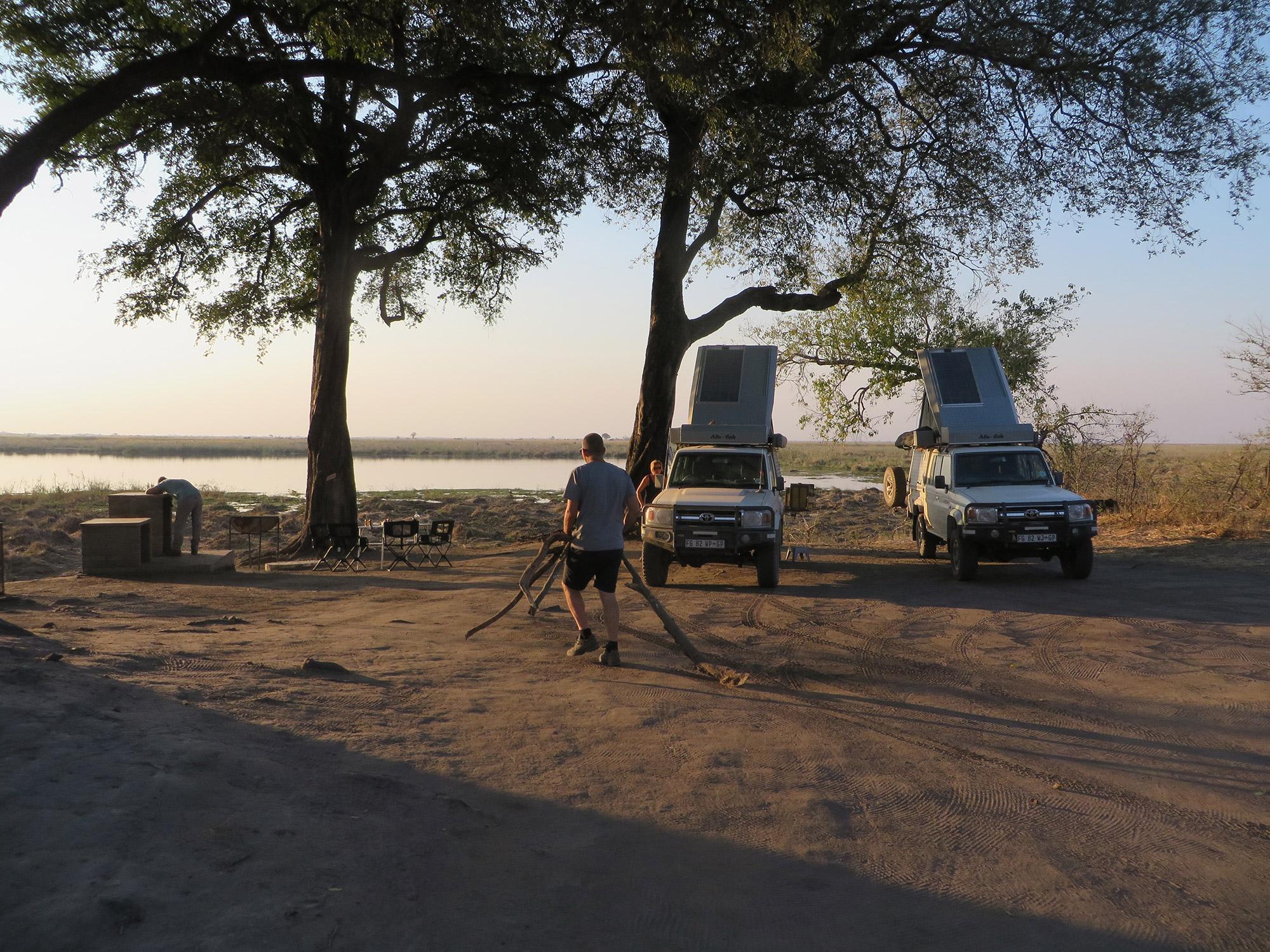 De volgers van Reizen & Reistips: Eric en Claudia - Camping Linyanti in Chobe National Park, Botswana