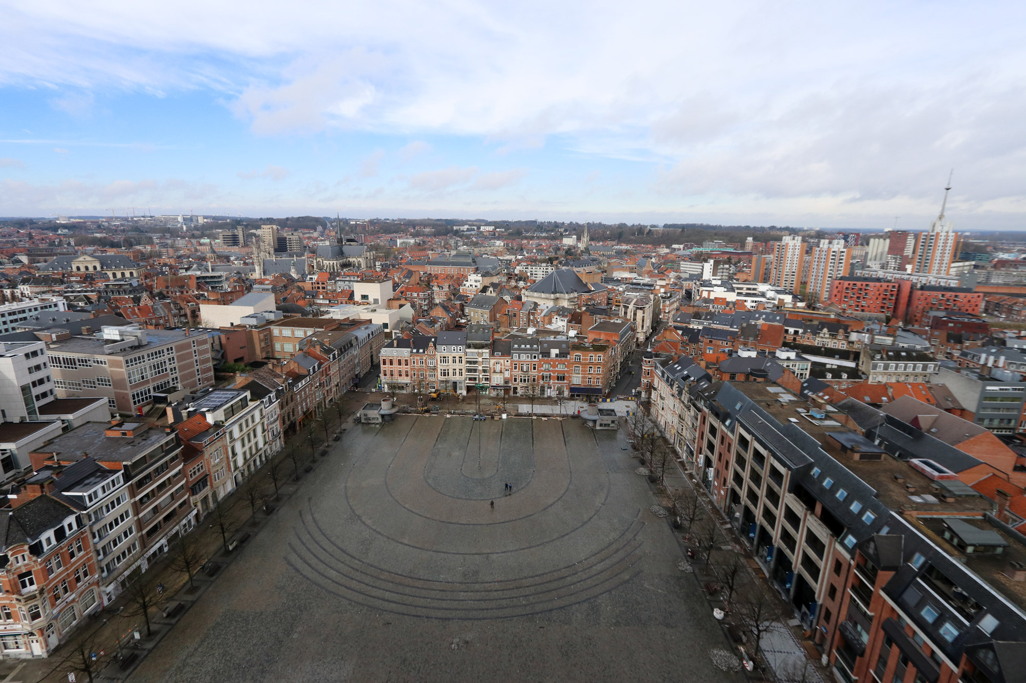 Weekendje Leuven - Uitzicht vanaf de toren van de Universiteitsbibliotheek