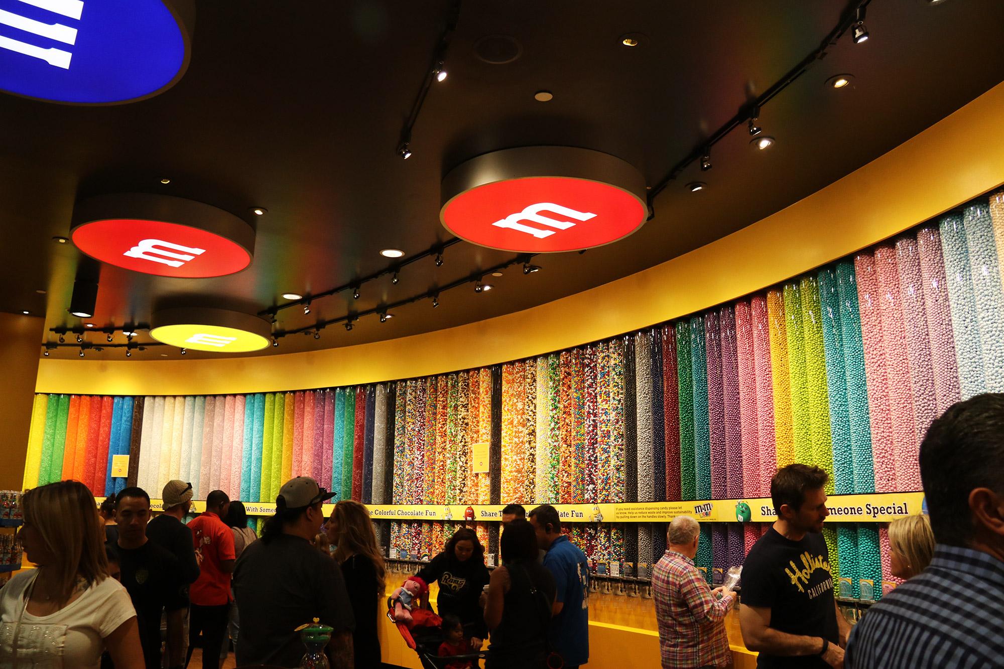 Amerika dag 17 - Las Vegas - M&M's Store
