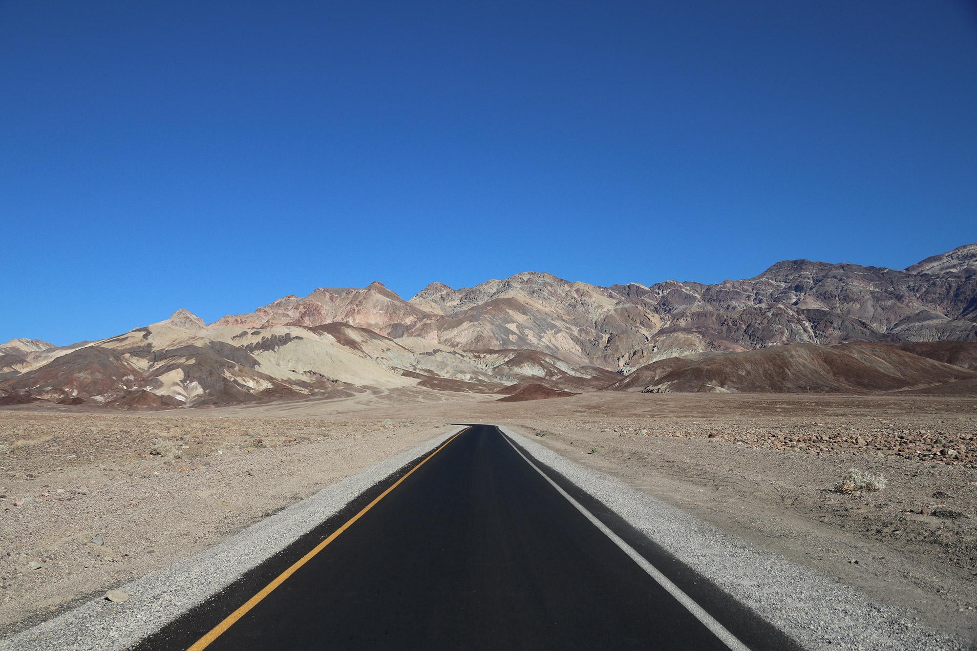 Amerika dag 18 - Death Valley National Park - Artists Drive