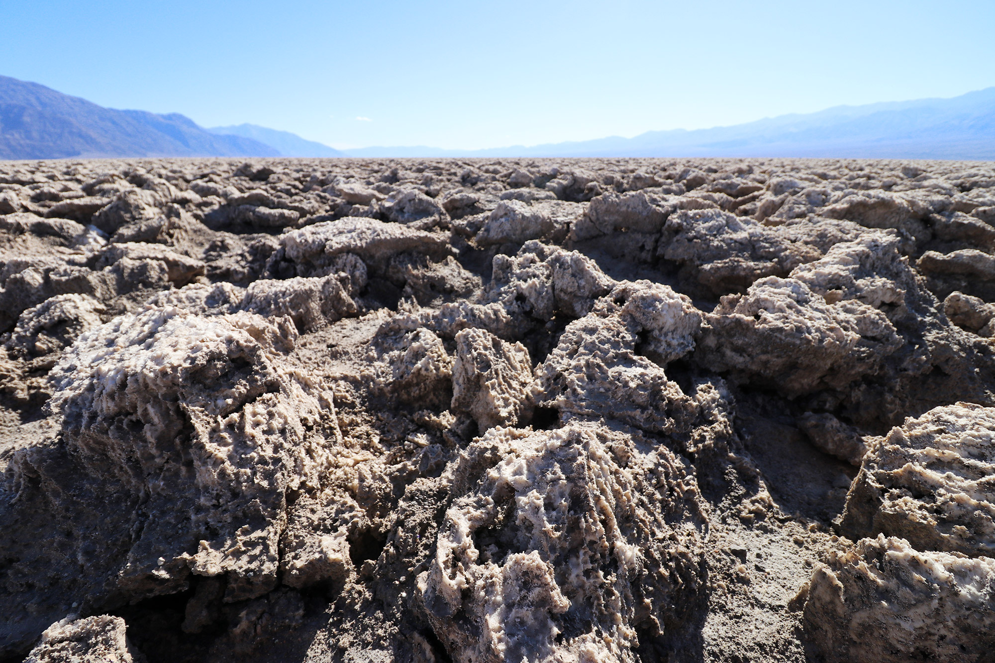 Amerika dag 18 - Death Valley National Park - Devil's Golf Courrse