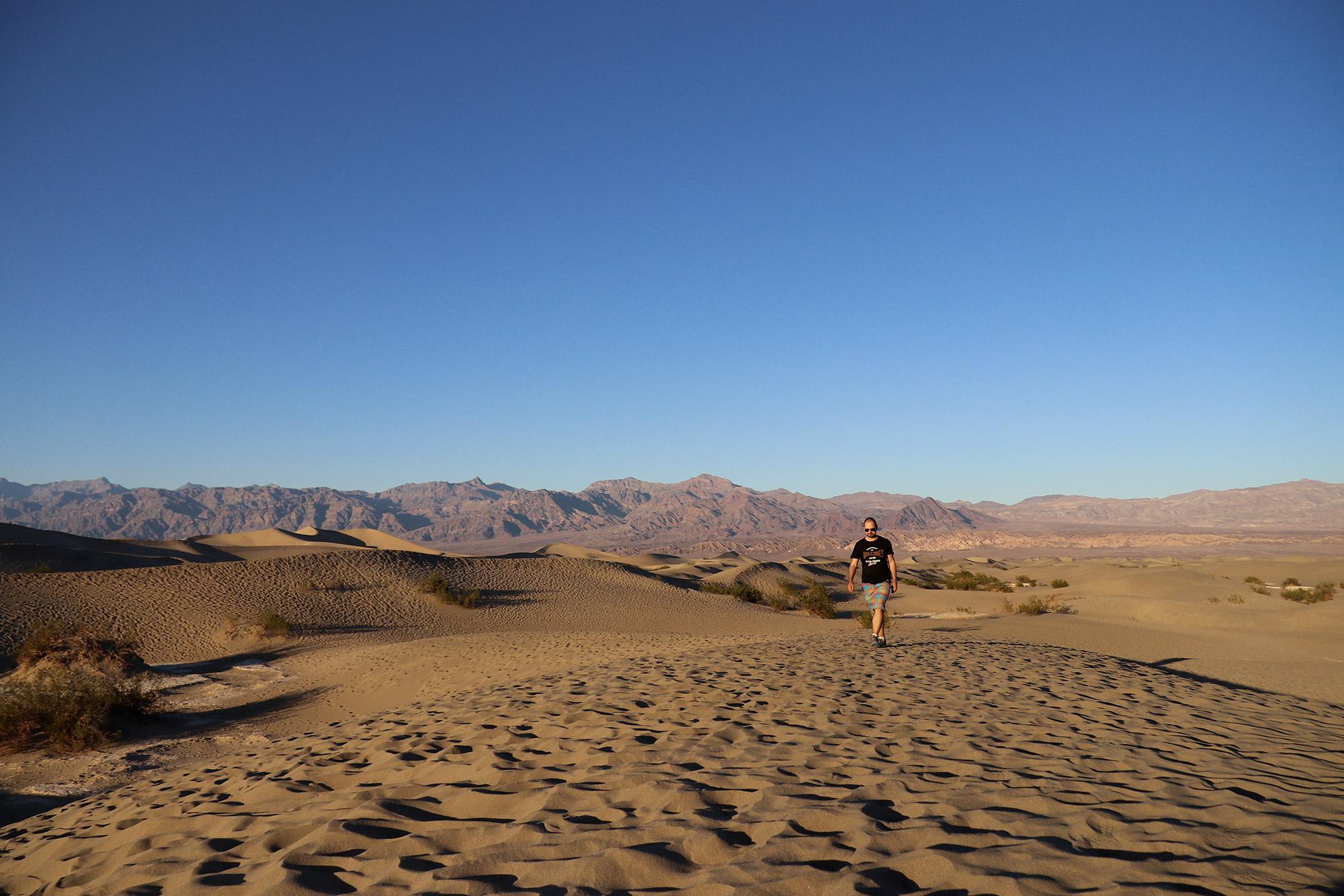 Amerika dag 18 - Death Valley National Park - Mesquite Flat Sand Dunes