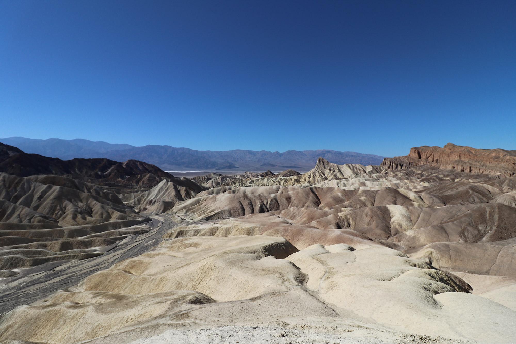 Amerika dag 18 - Death Valley National Park - Zabriskie Point