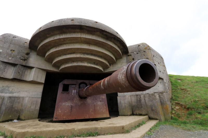 Fotoverslag Normandië - Batterie de Longues