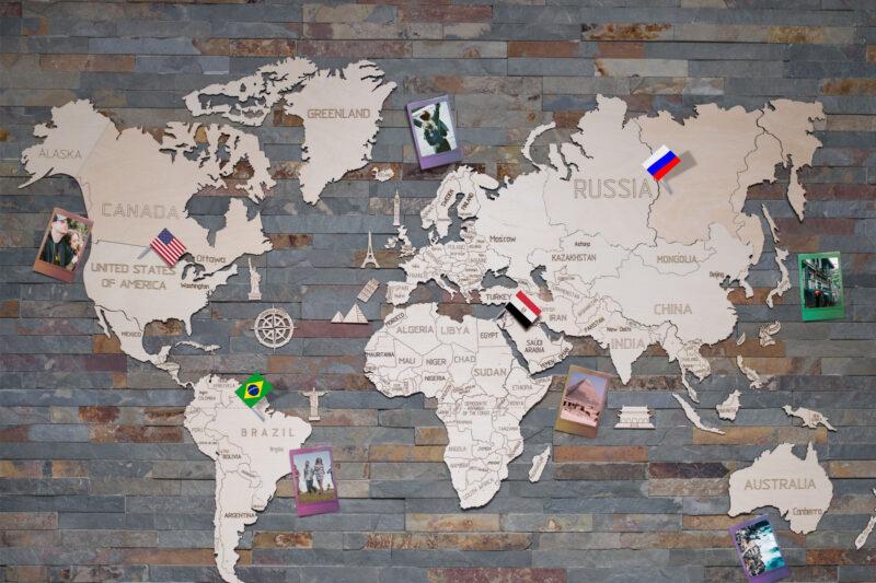 WINACTIE: Houten wereldkaart van Coolgift