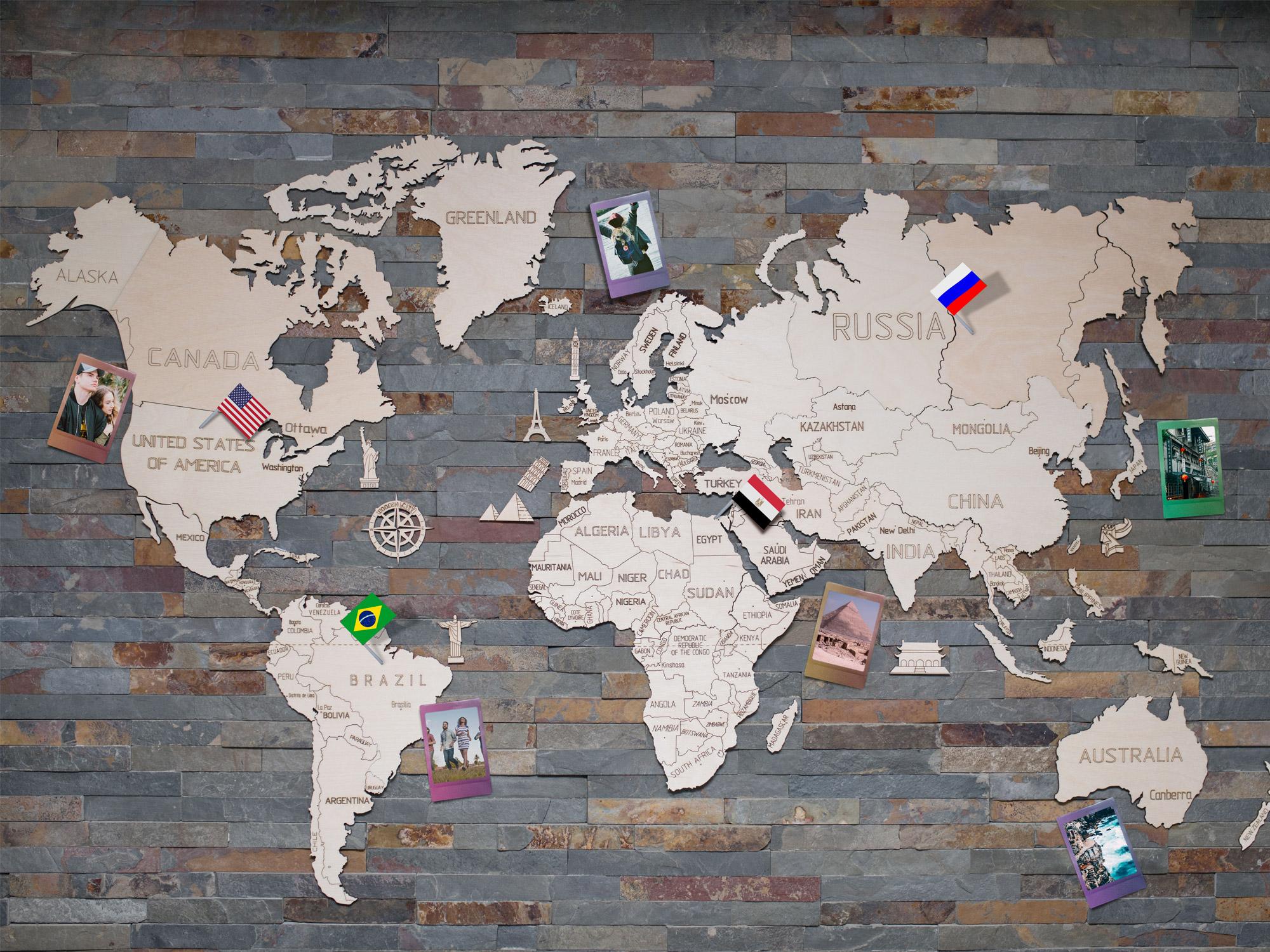 Woonkamer Met Wereldkaart : Winactie houten wereldkaart van coolgift reizen reistips