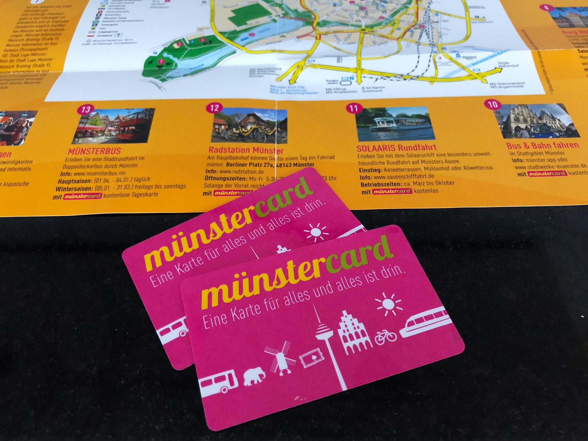 9x doen in Münster - Münstercard