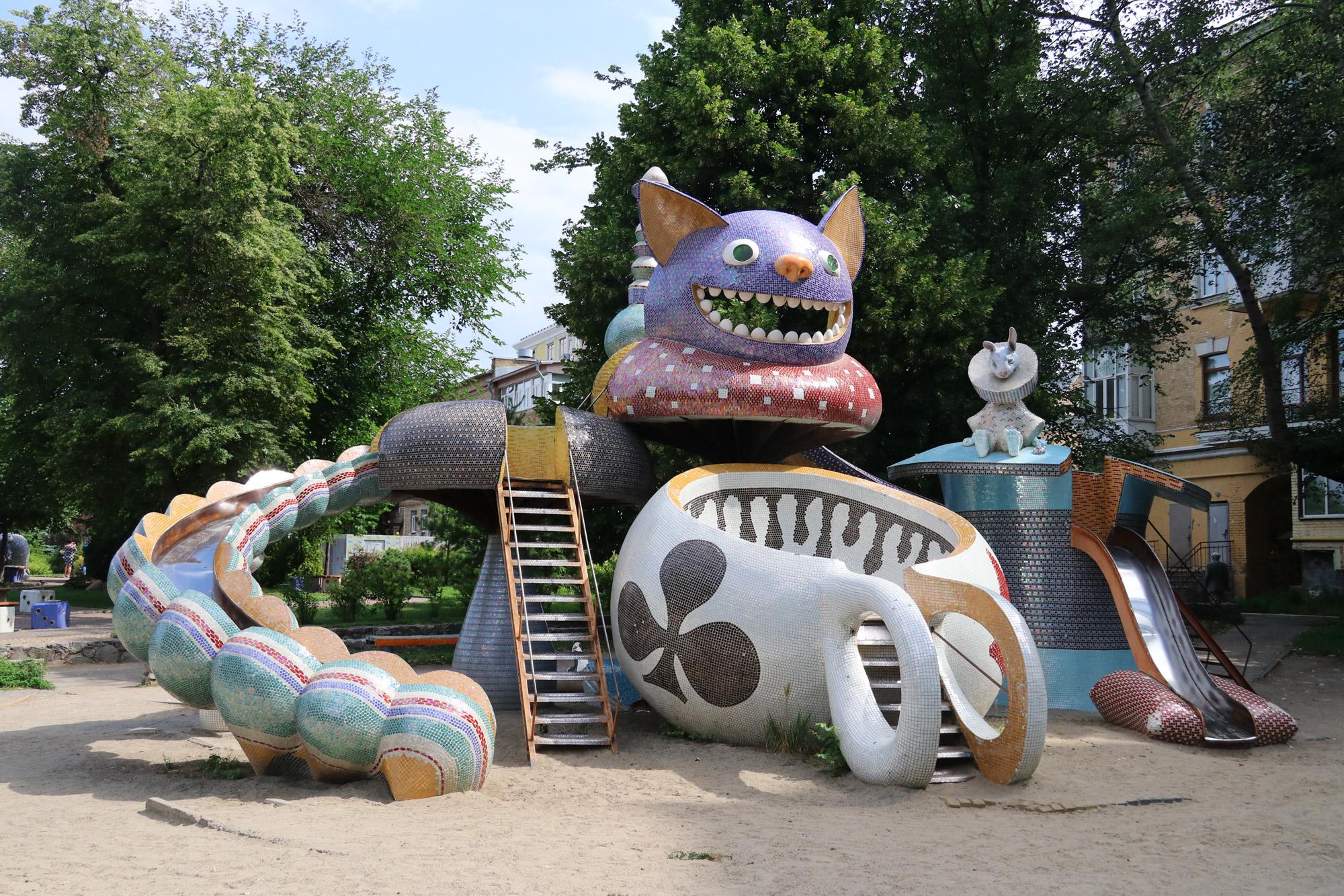 Kiev verkennen met een gids - Peyzazhna Sculpture Alley