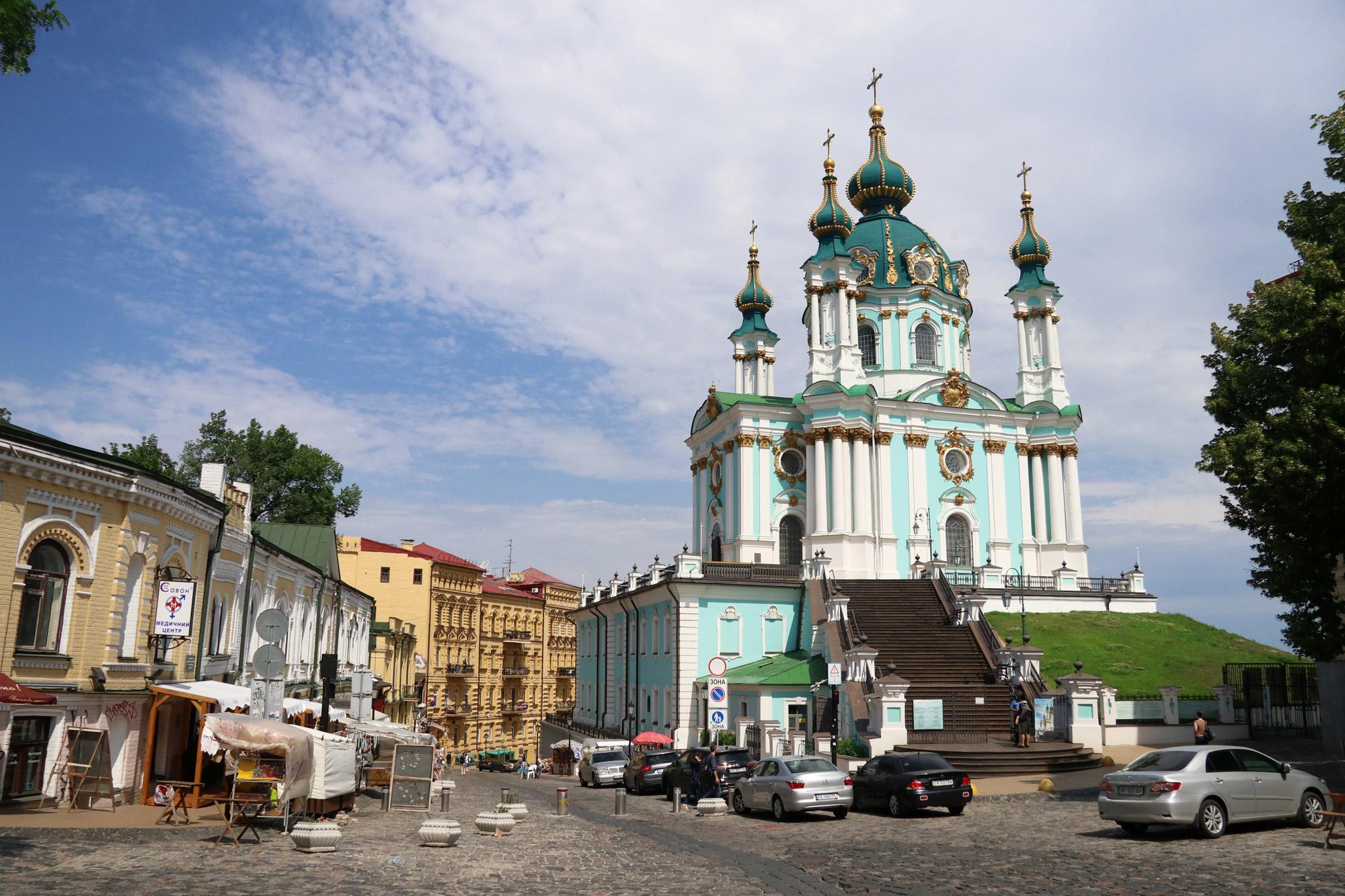 Kiev verkennen met een gids - Sint-Andreaskerk