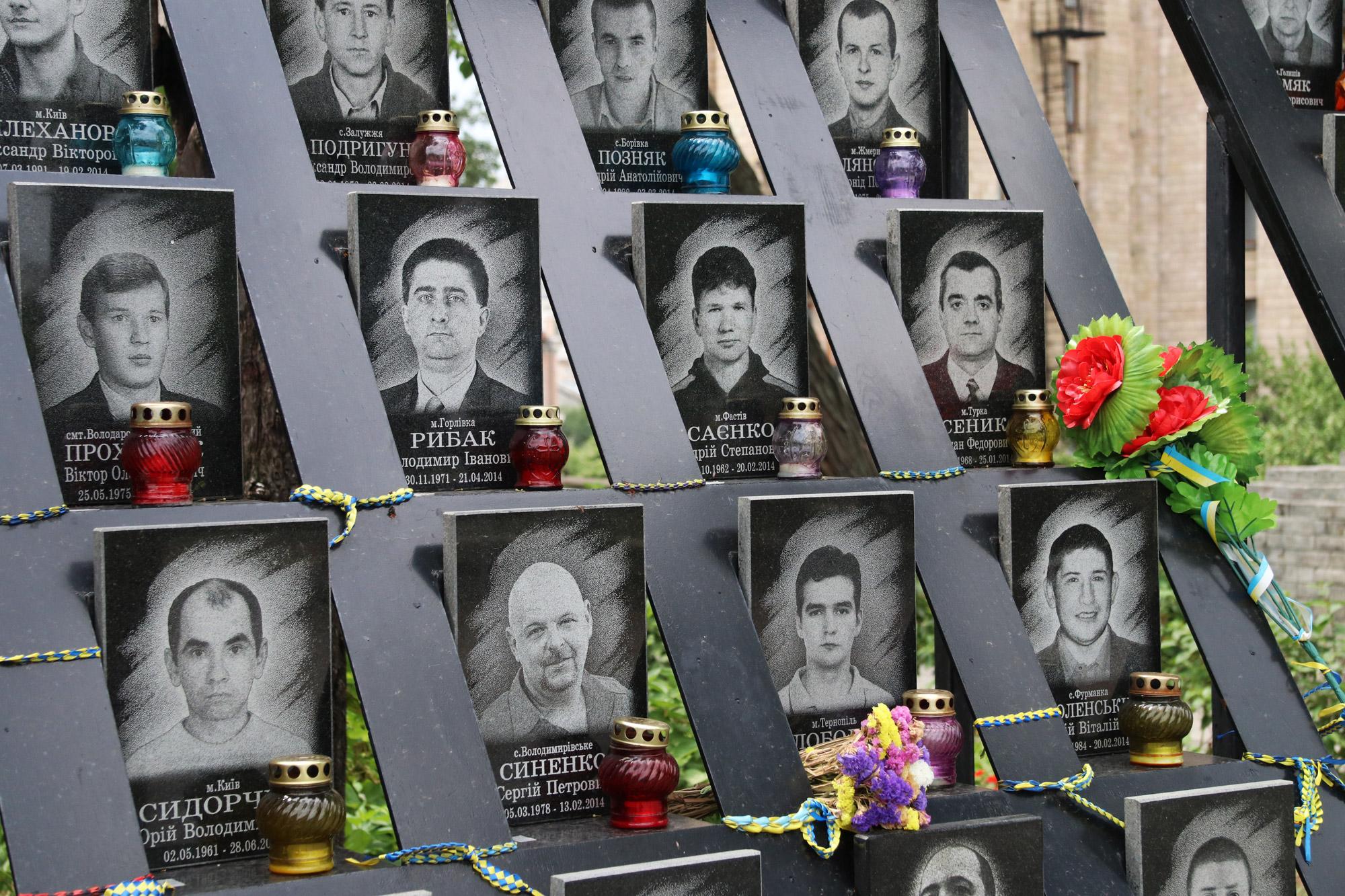 Kiev verkennen met een gids - Slachtoffers op het Plein van de Onafhankelijkheid