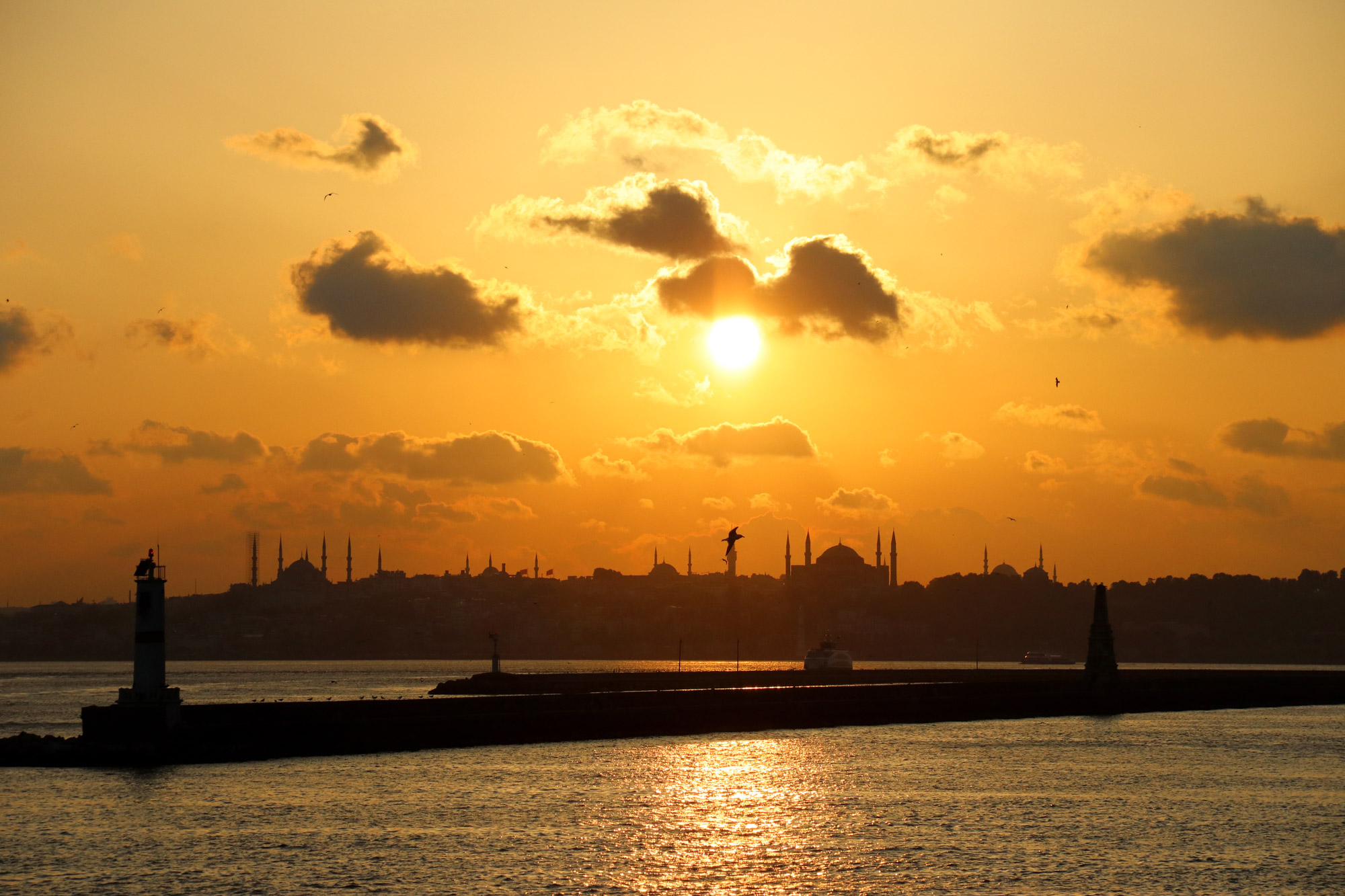 Stedentrip Istanbul - Zonsondergang in Istanbul
