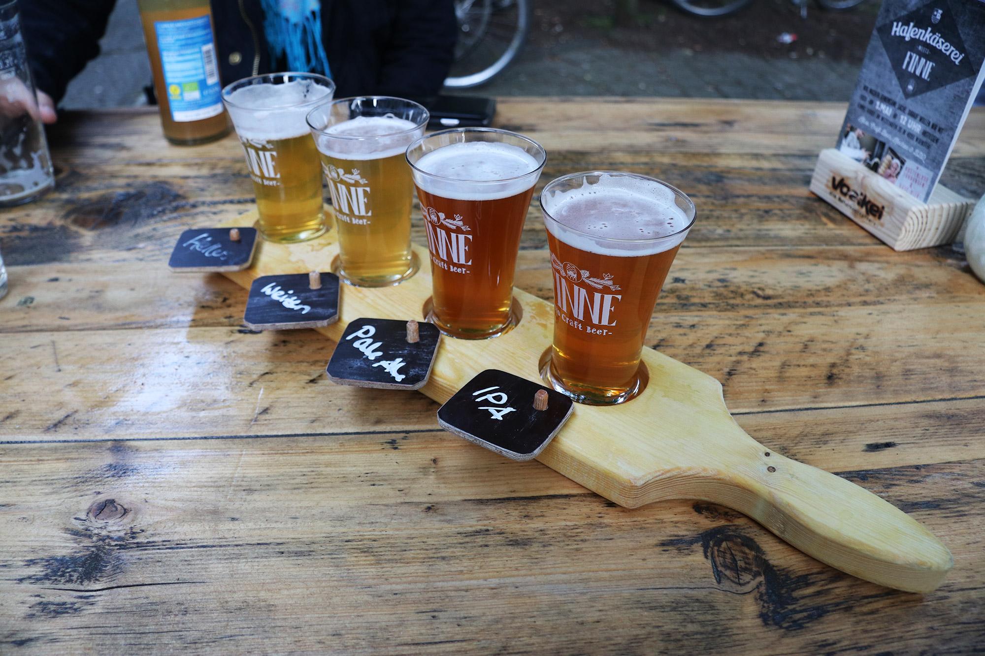 Weekendje weg Münster - Proefplankje bij Finne Brauerei