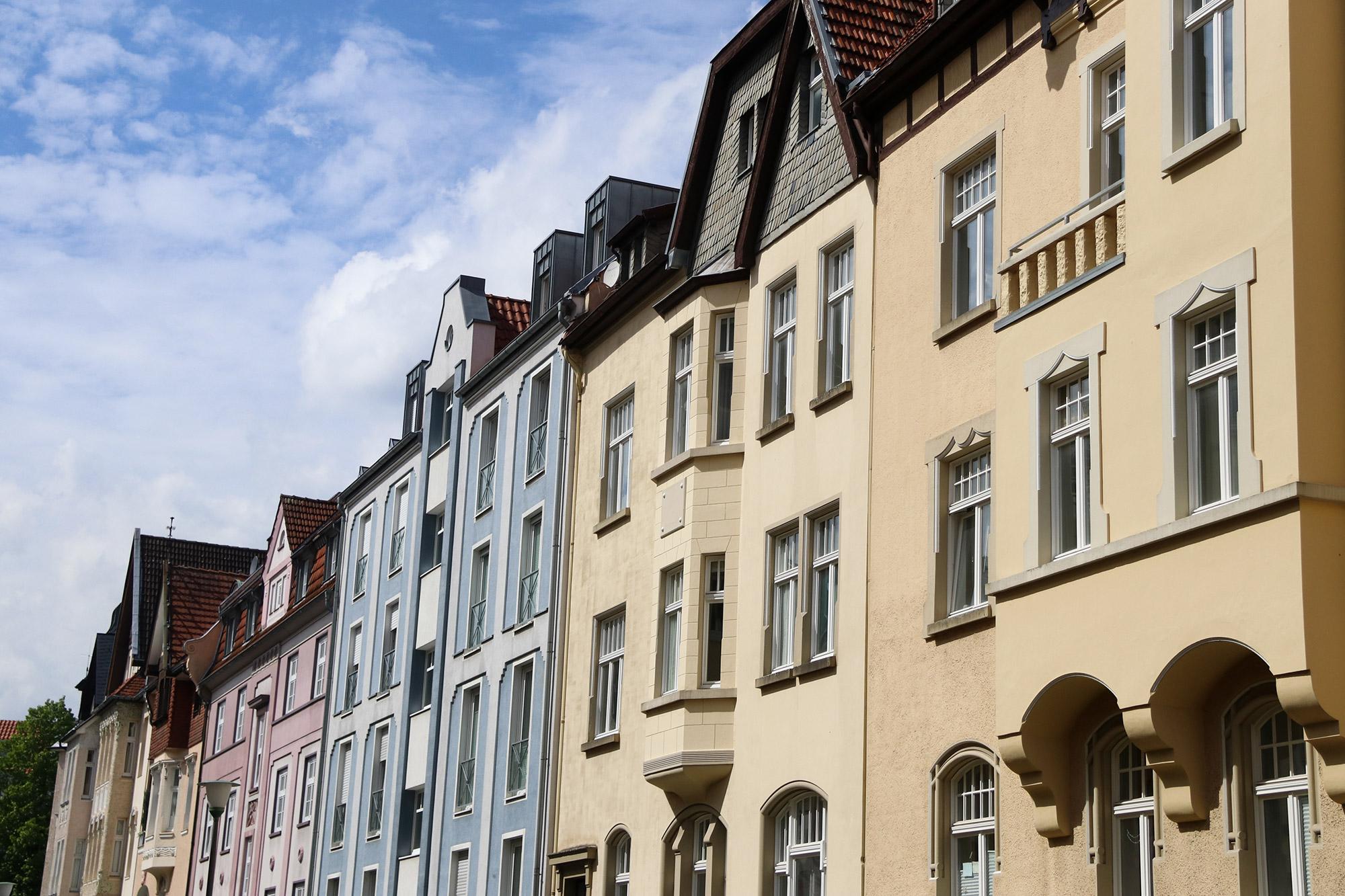 Weekendje weg Münster - Kleurrijke huizen bij de Kreuzviertel