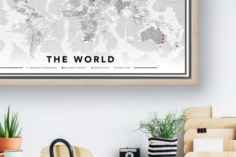 WINACTIE: Wereldkaart van Herinneringen Op Linnen
