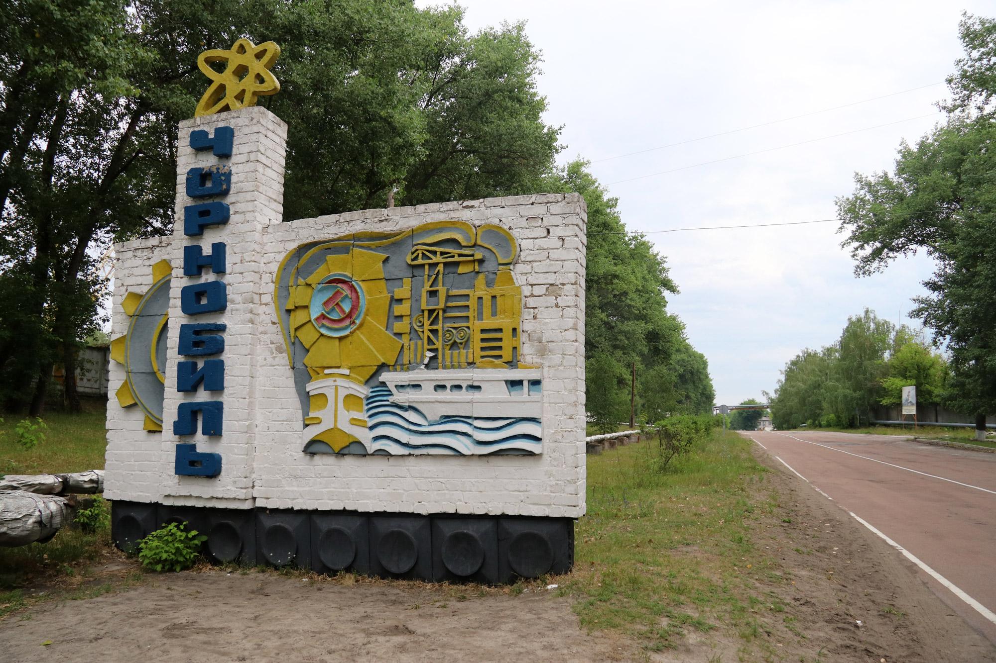 Tsjernobyl - Chernobyl sign