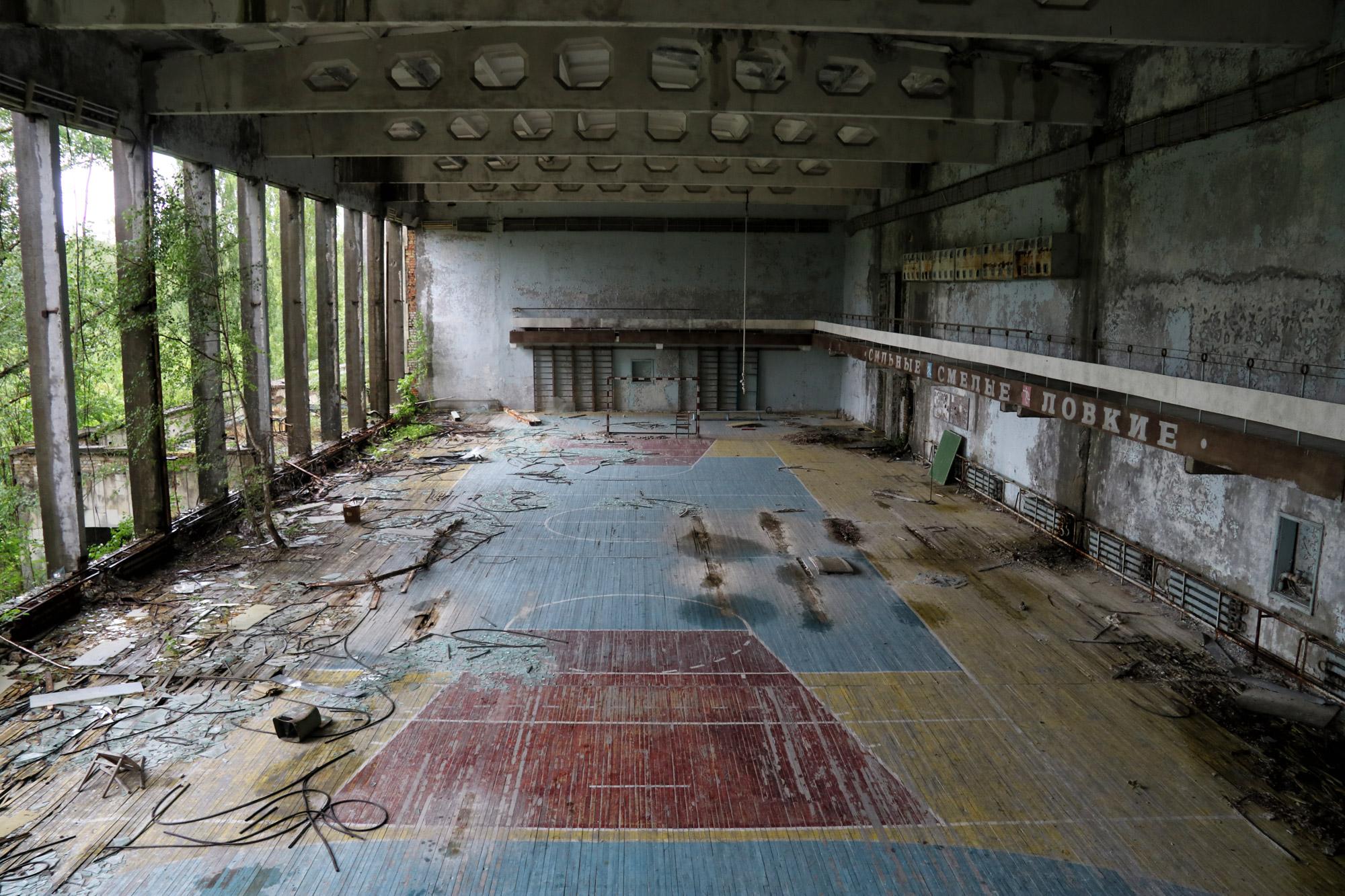 Tsjernobyl - Pripjat - Gymzaal