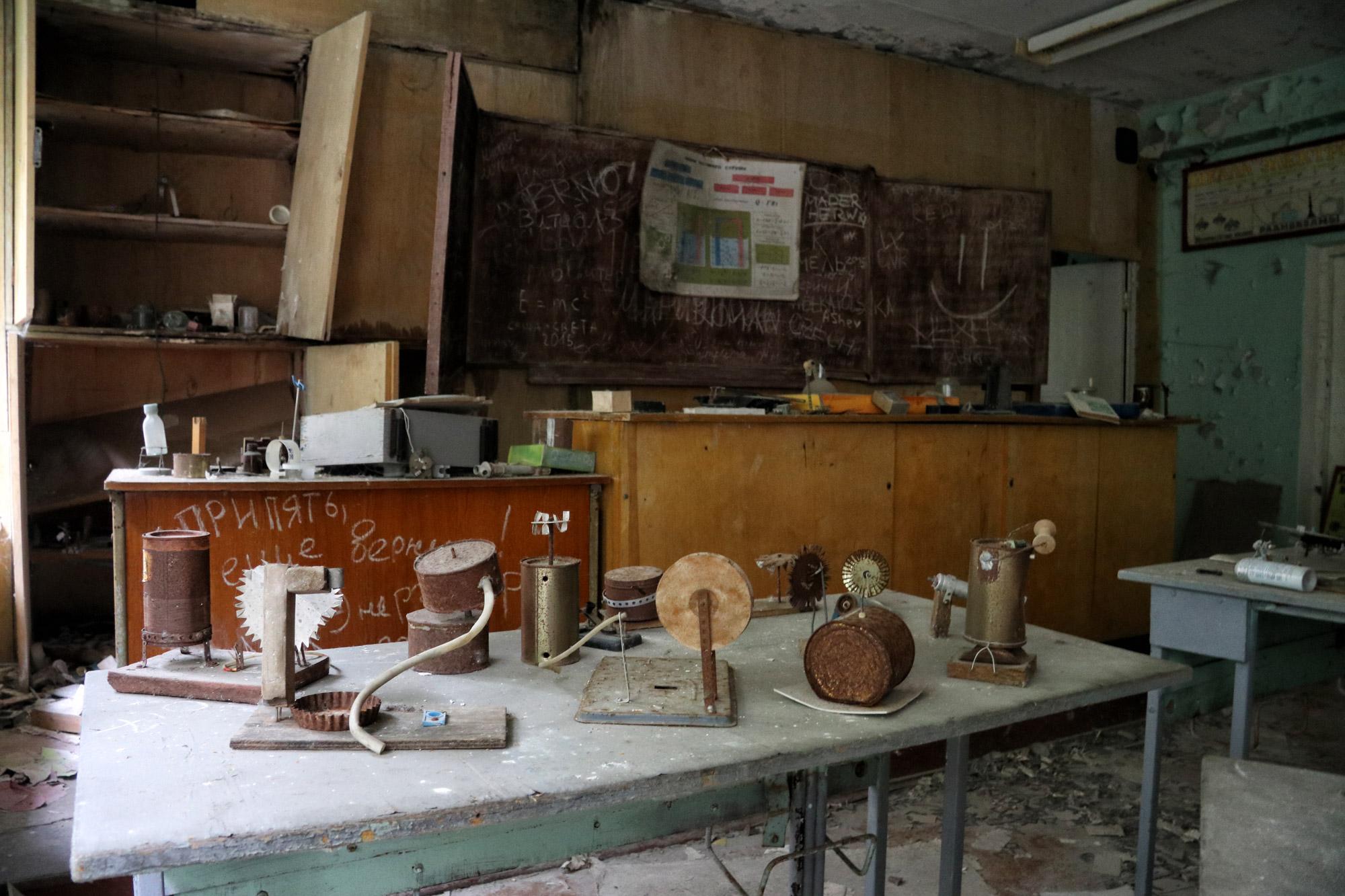 Tsjernobyl - Pripjat - School Scheikunde