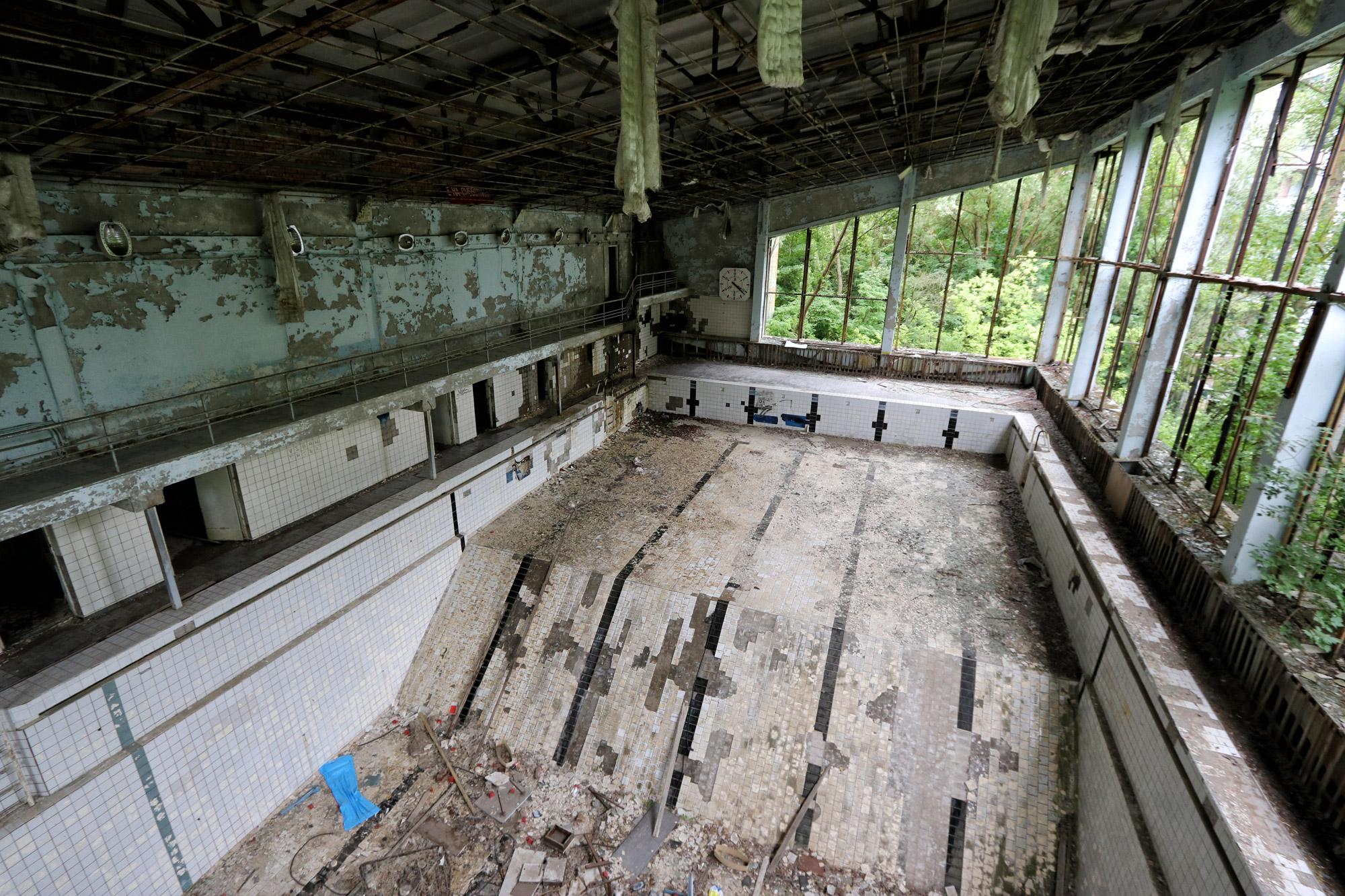 Tsjernobyl - Pripjat - Zwembad