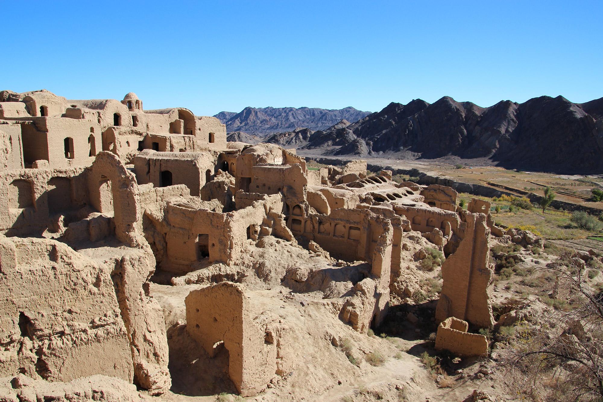 Oude ruïne stad in Iran
