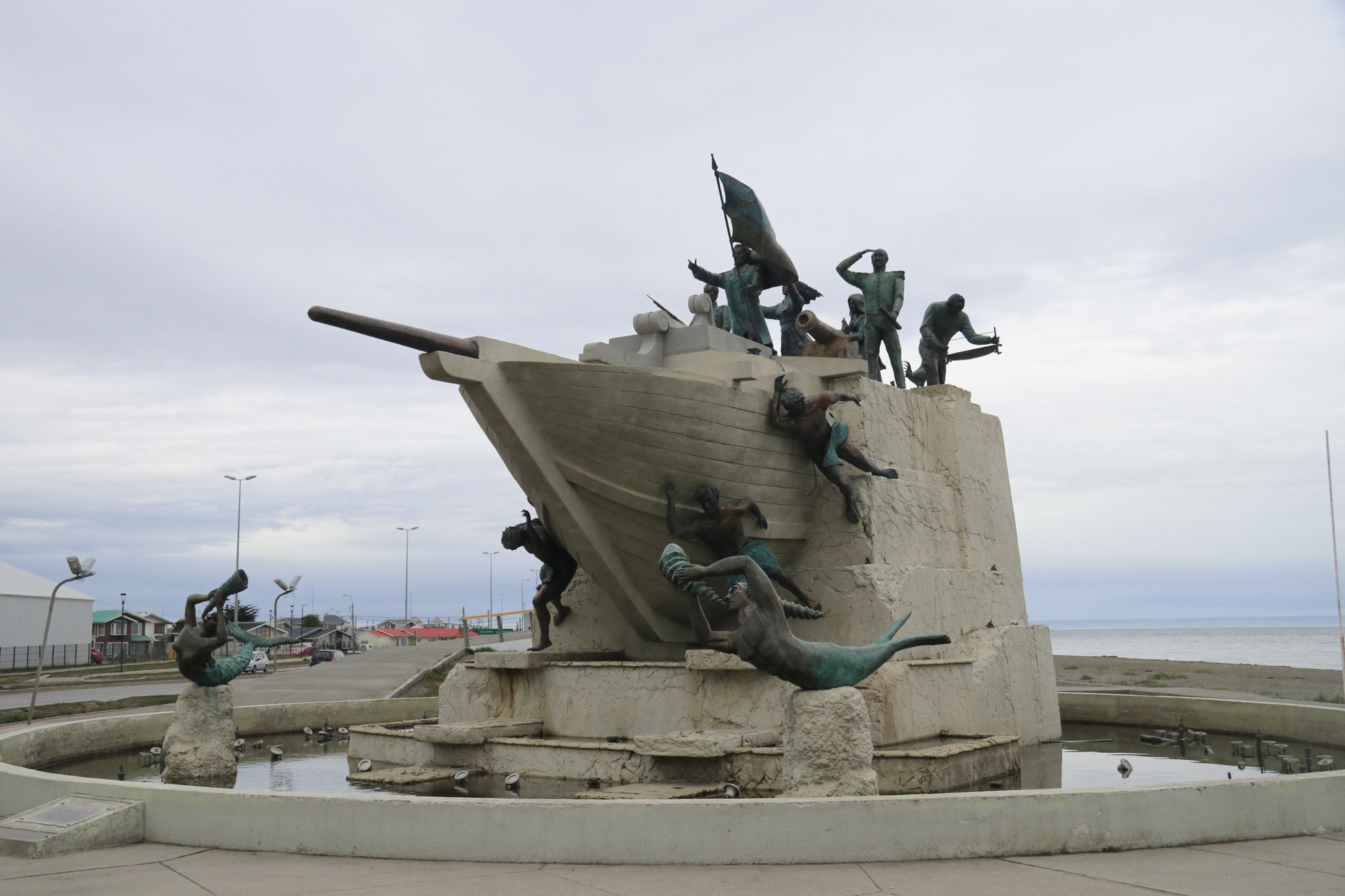 Patagonië - Punta Aremas - Monument