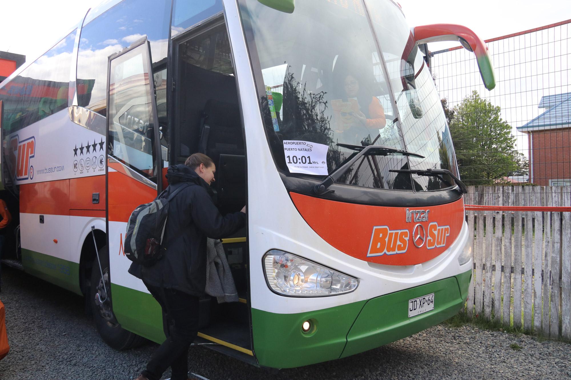 Patagonië - Met de bus van Punta Arenas naar Puerto Natales