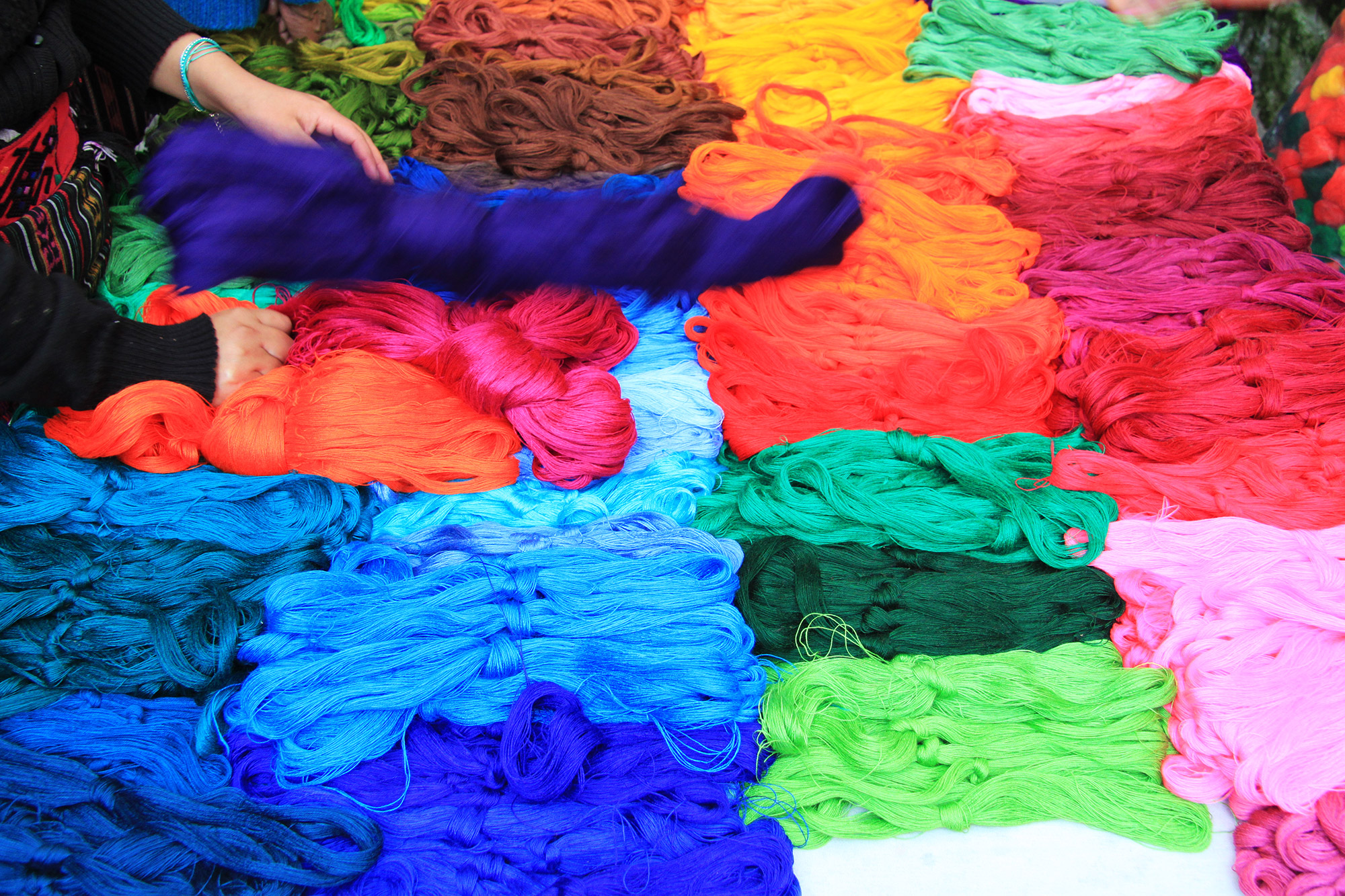 Blue Monday - Kleurrijke markt in Chichicastenango, Guatemala