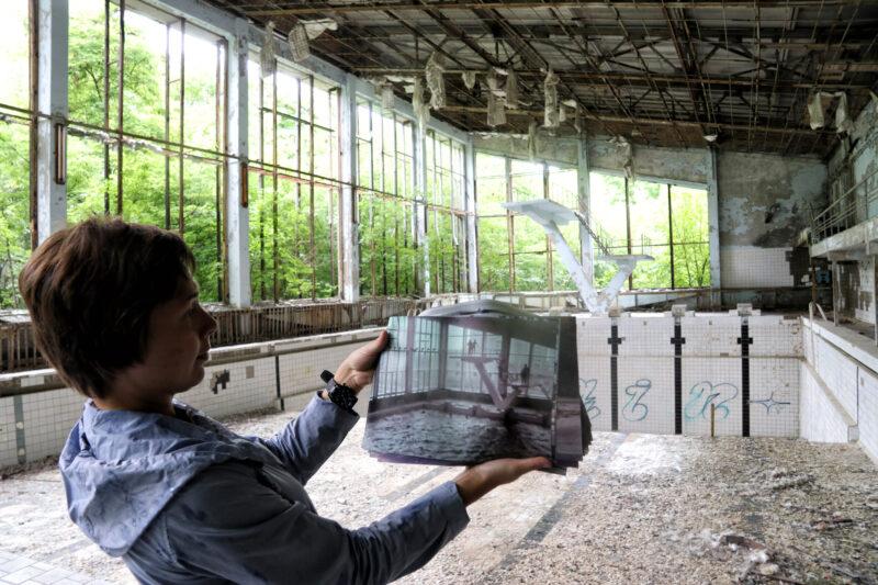Pripjat, spookstad bij Tsjernobyl - Oekraïne