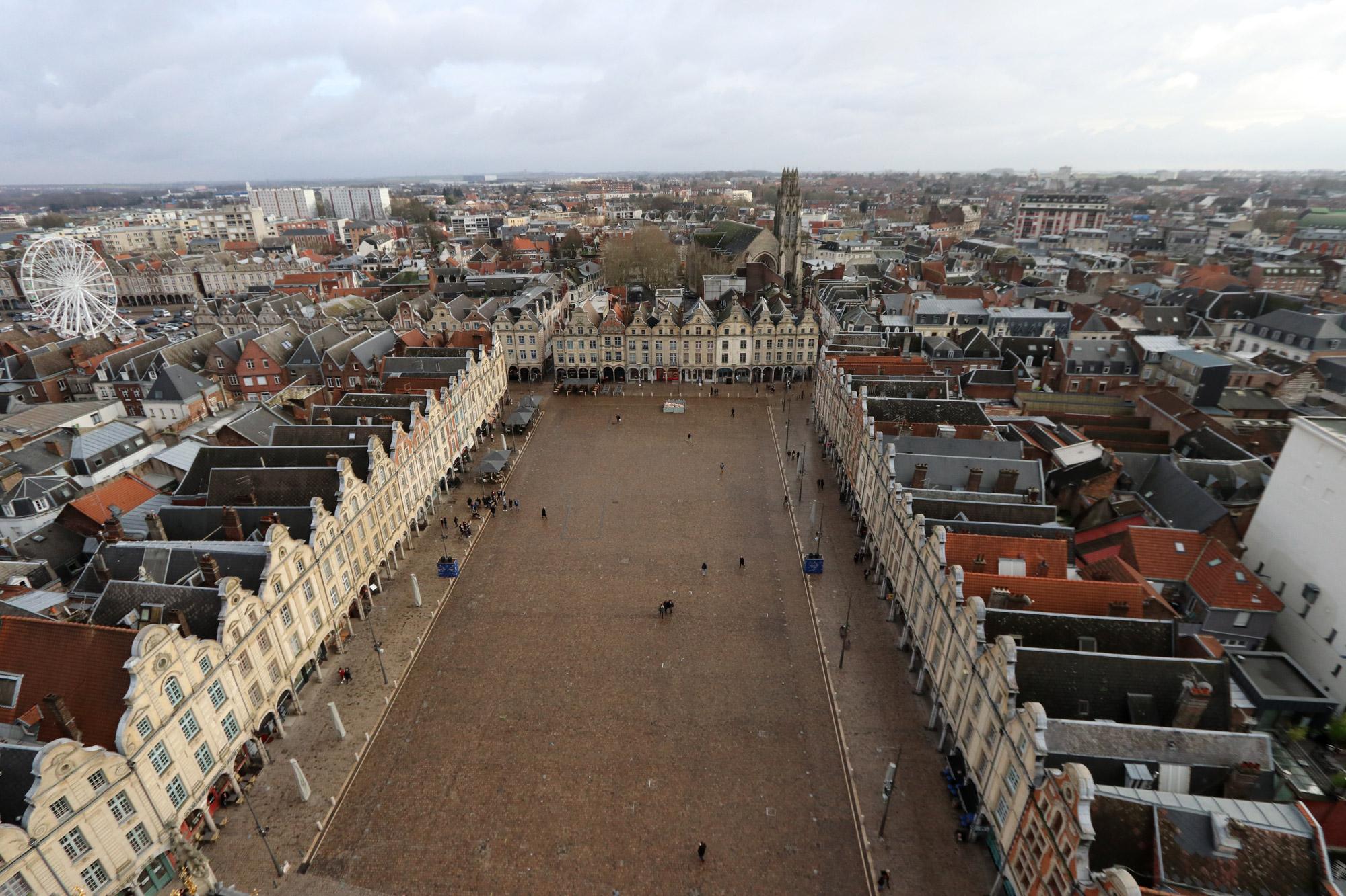 Stedentrip Arras - Uitzicht vanaf het Belfort van Arras