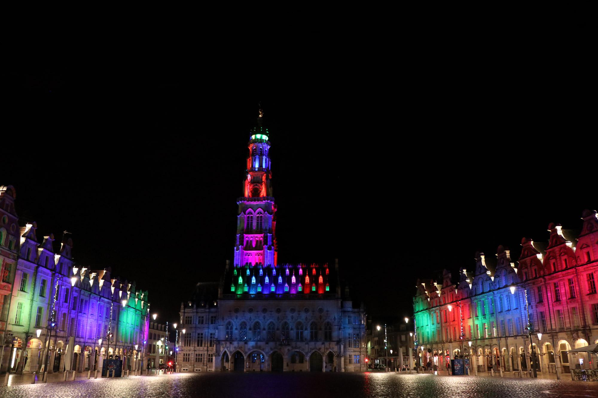 Stedentrip Arras - Lichtshow op het Place de Héros