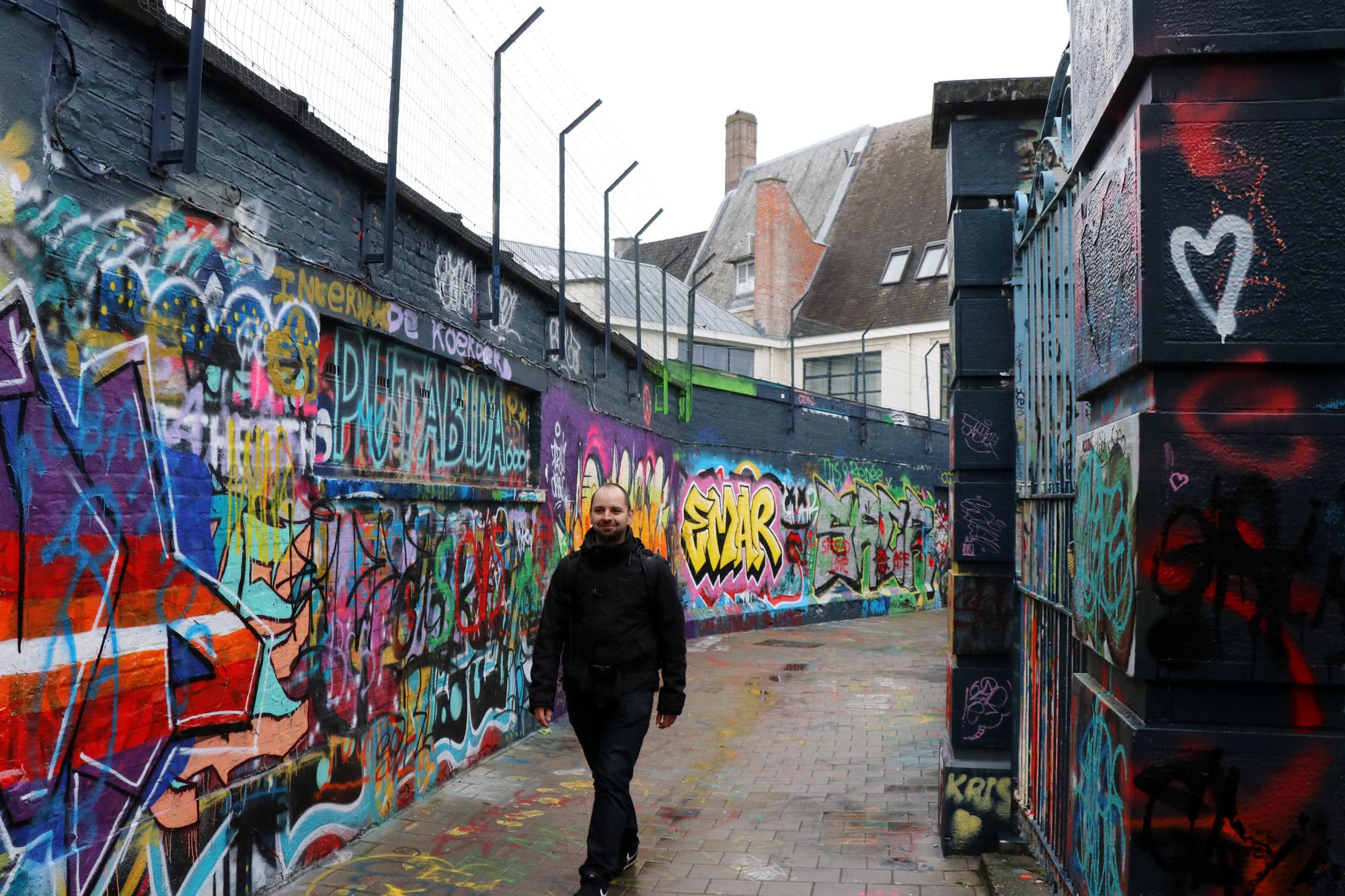 Het Graffitistraatje in Gent