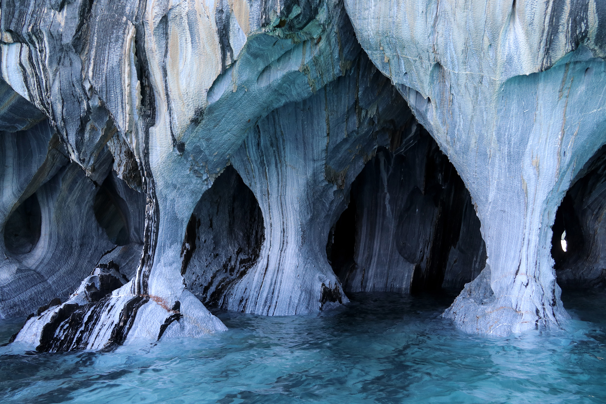 Reisverslag Patagonië - Marble Caves