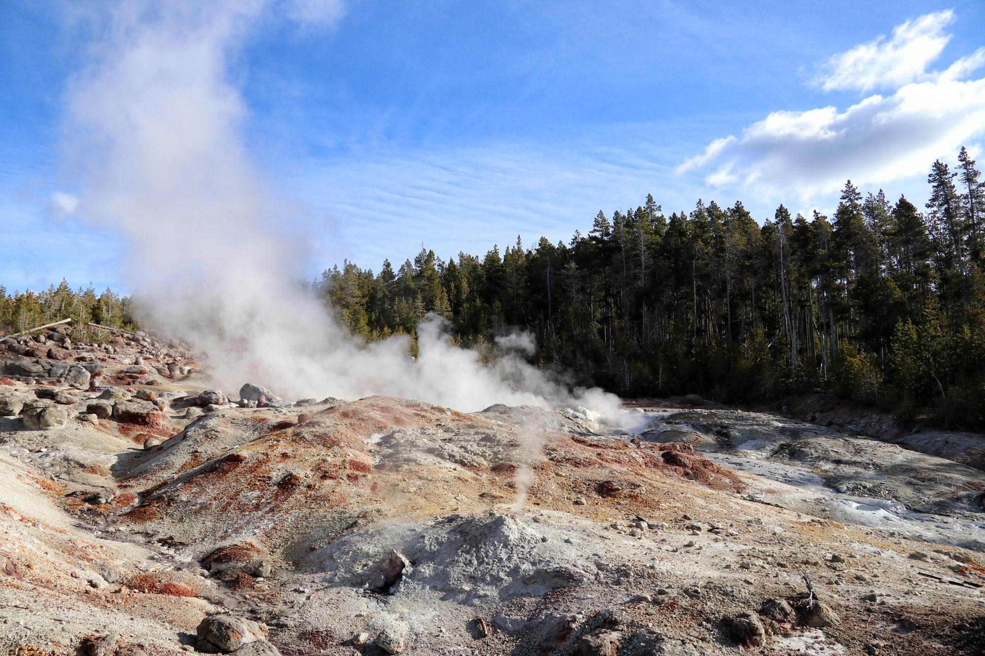 De hoogtepunten van Yellowstone National Park - Norris Geyser Basin