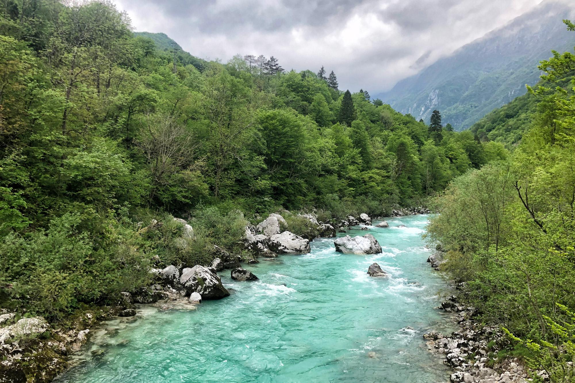 Soška pot wandeling in Slovenië - Soča rivier