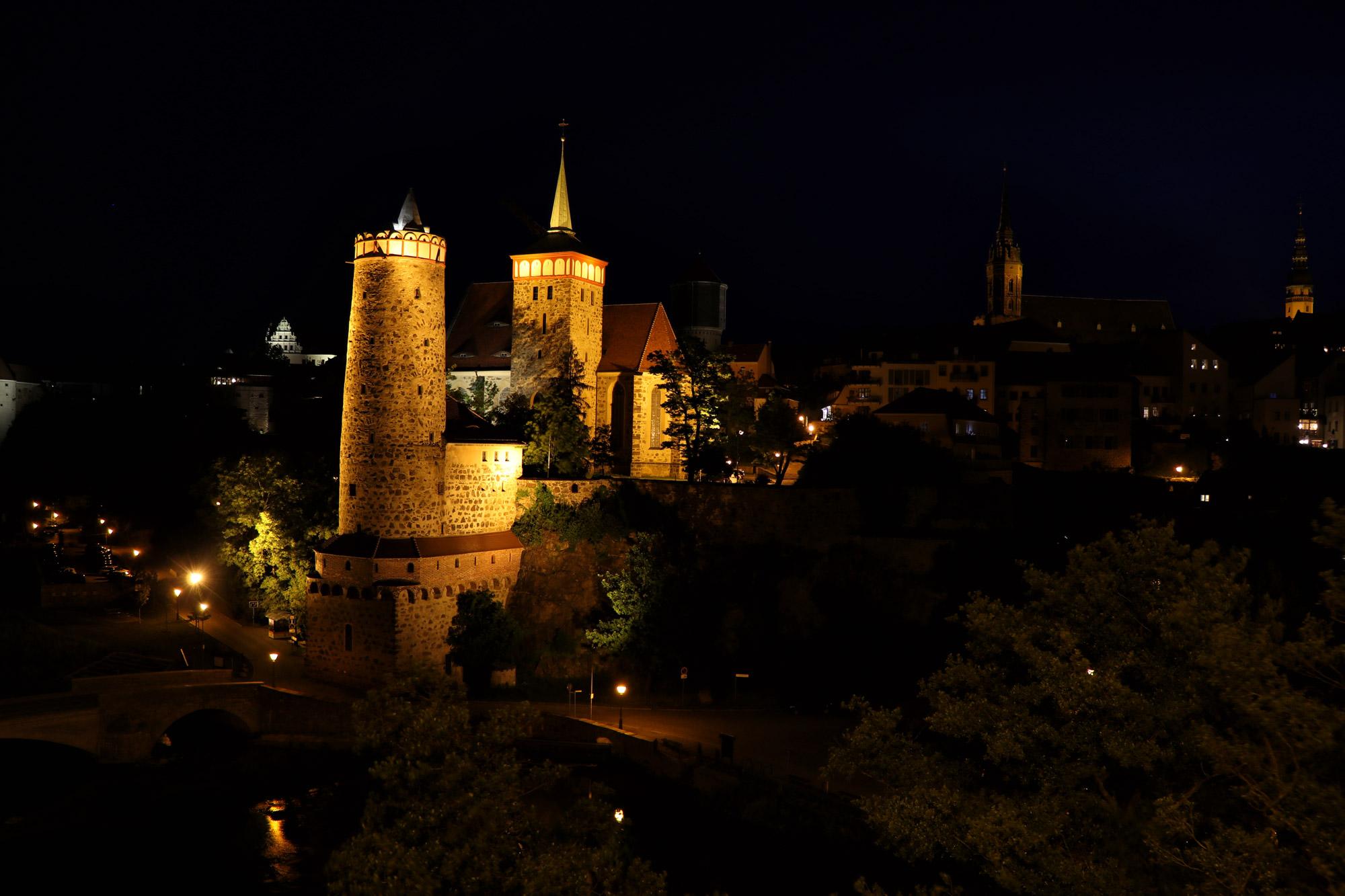 Bautzen - Skyline bij avond