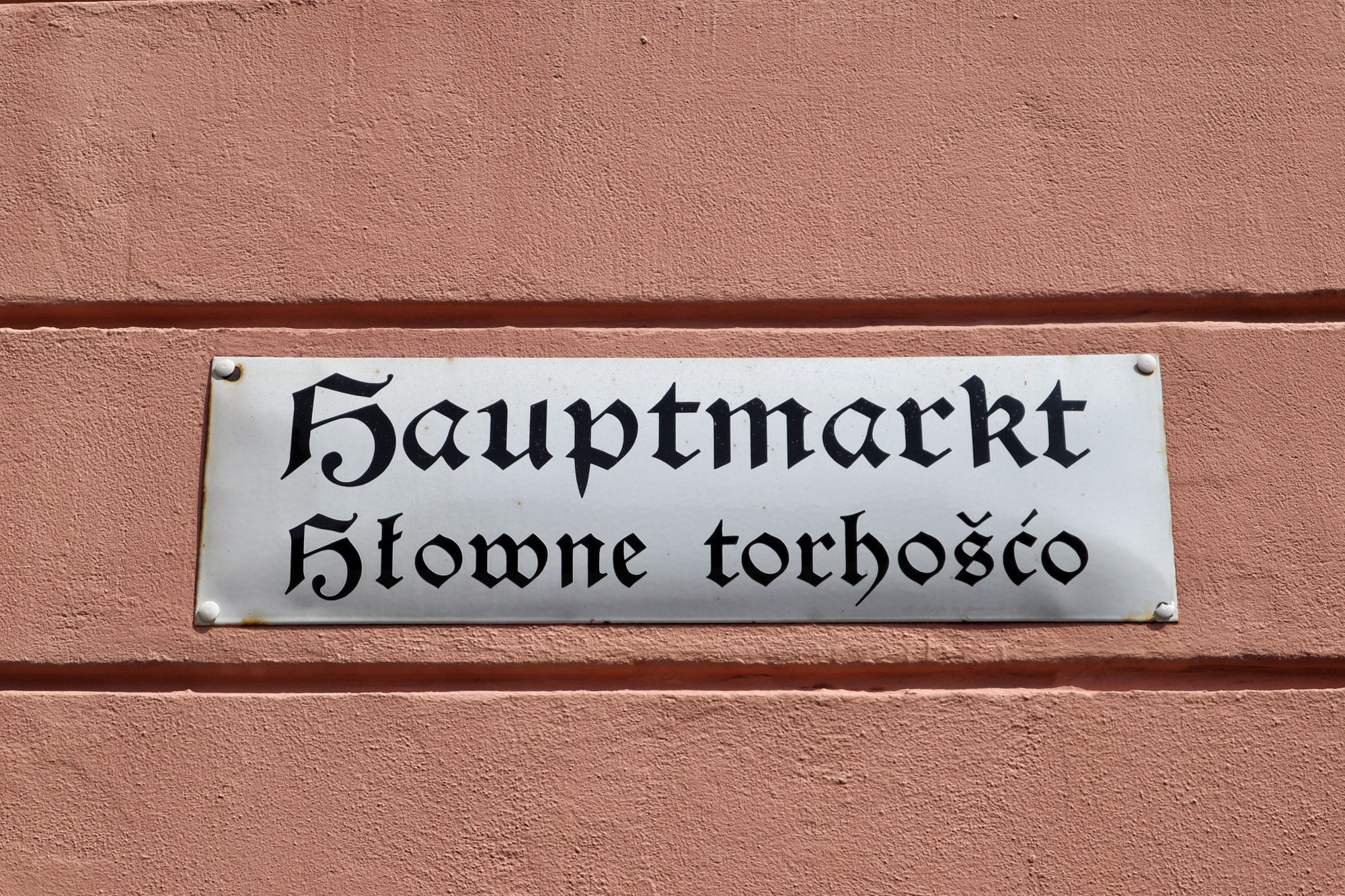 Bautzen - Sorbische teksten