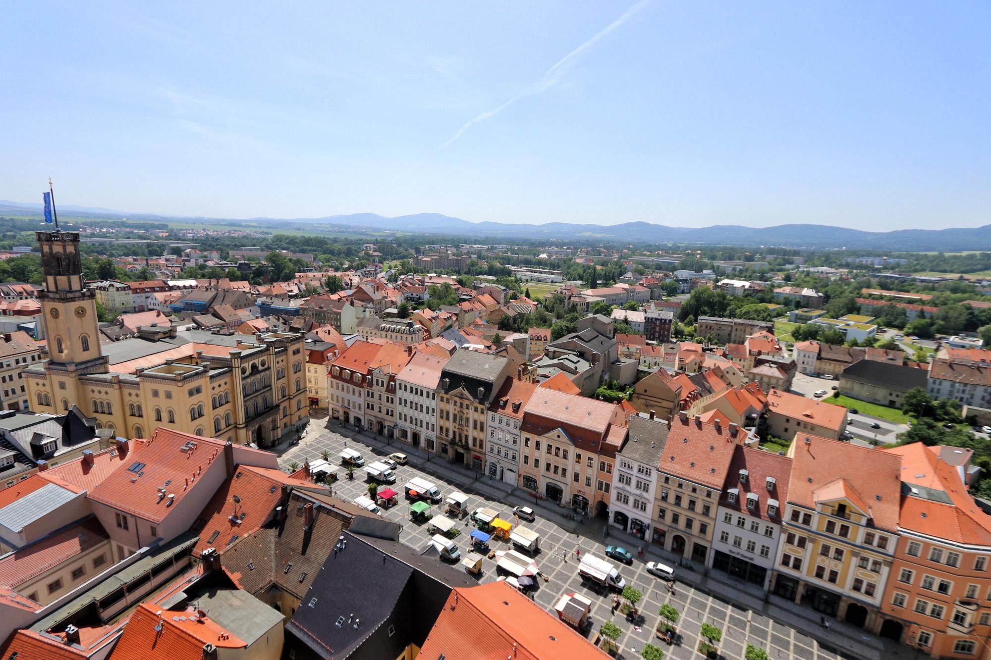 Zittau - Johanniskirche uitzicht
