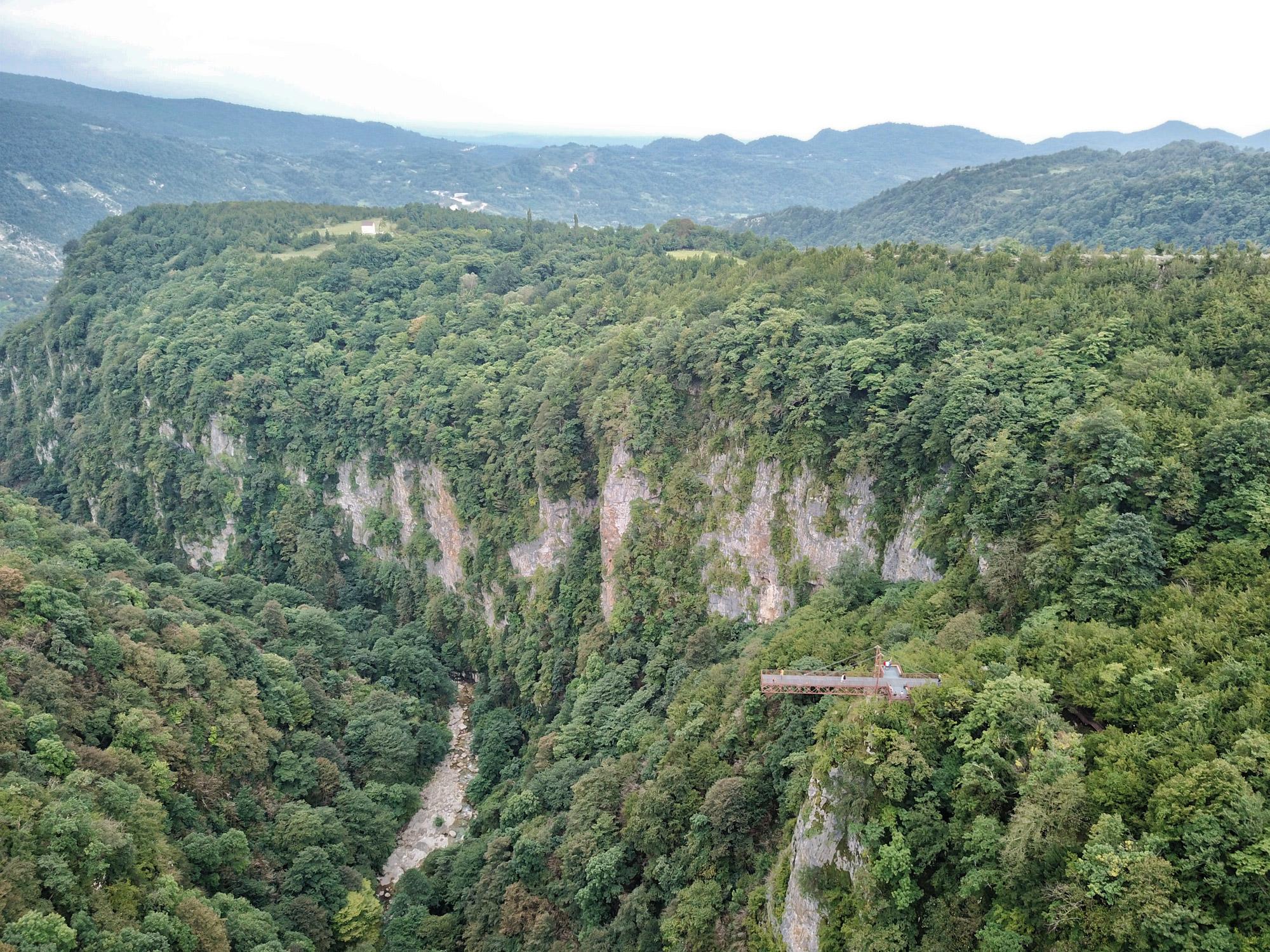Georgië reisverslag: Okatse Canyon