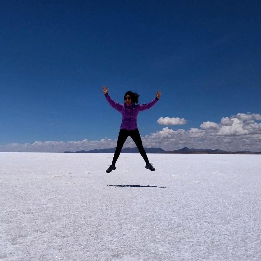 Soraya Pattiruhu - Salar de Uyuni in Bolivia