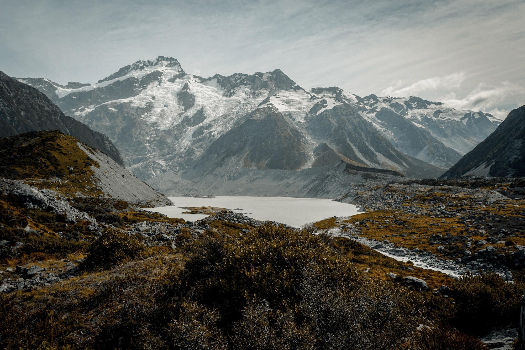 Shamira en Niels - Mount Cook, Nieuw-Zeeland
