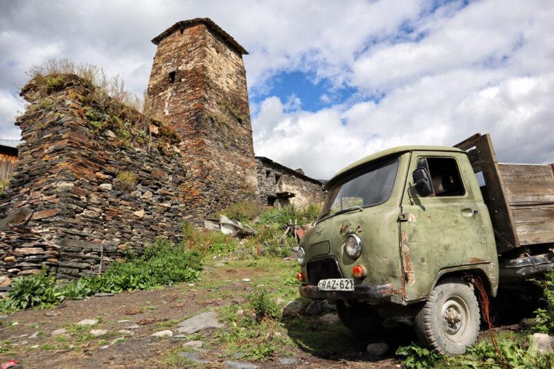 Ushguli, bijzonder bergdorp in de Kaukasus