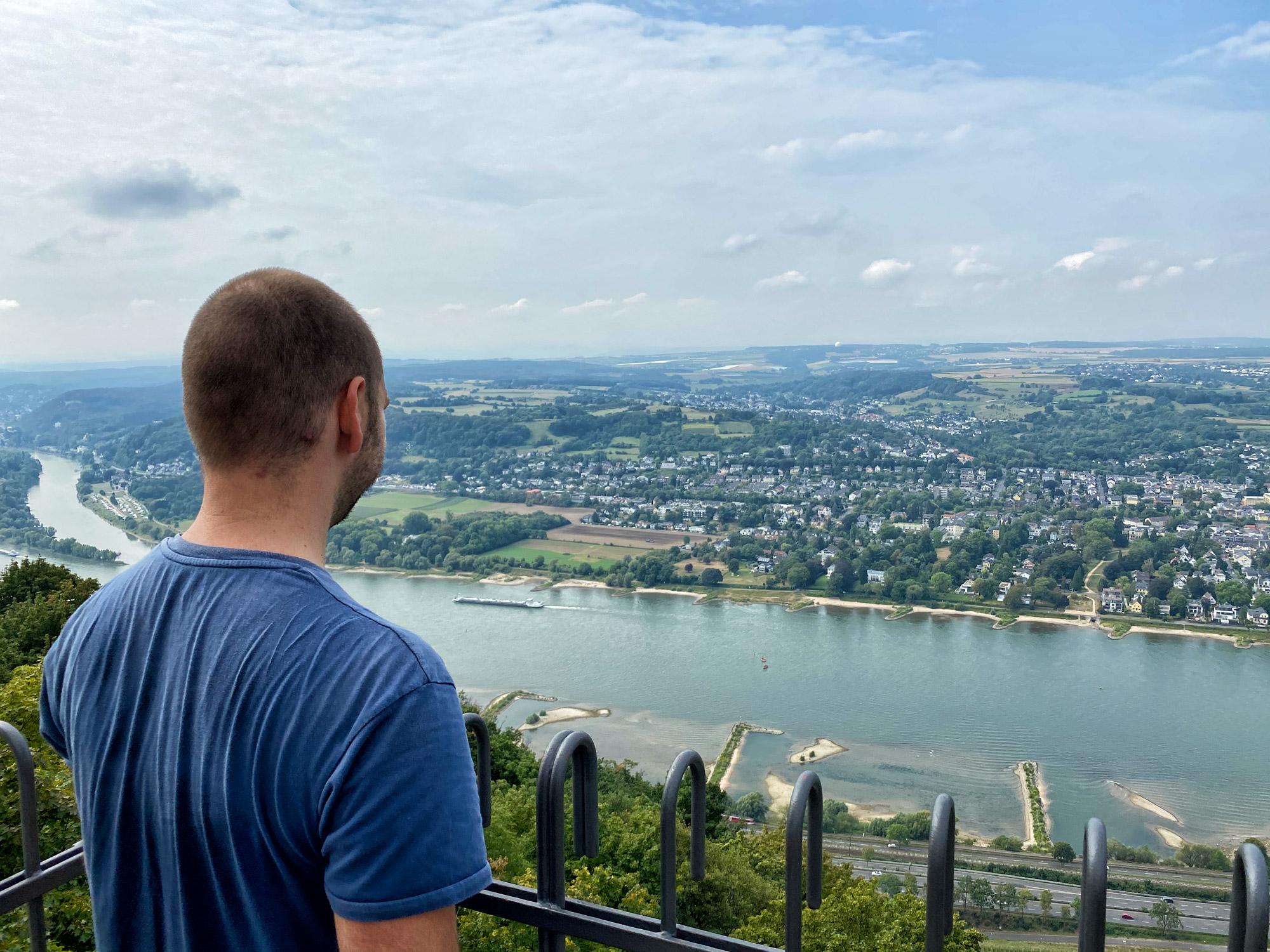 Uitzicht vanaf de ruïne Burg Drachenfels
