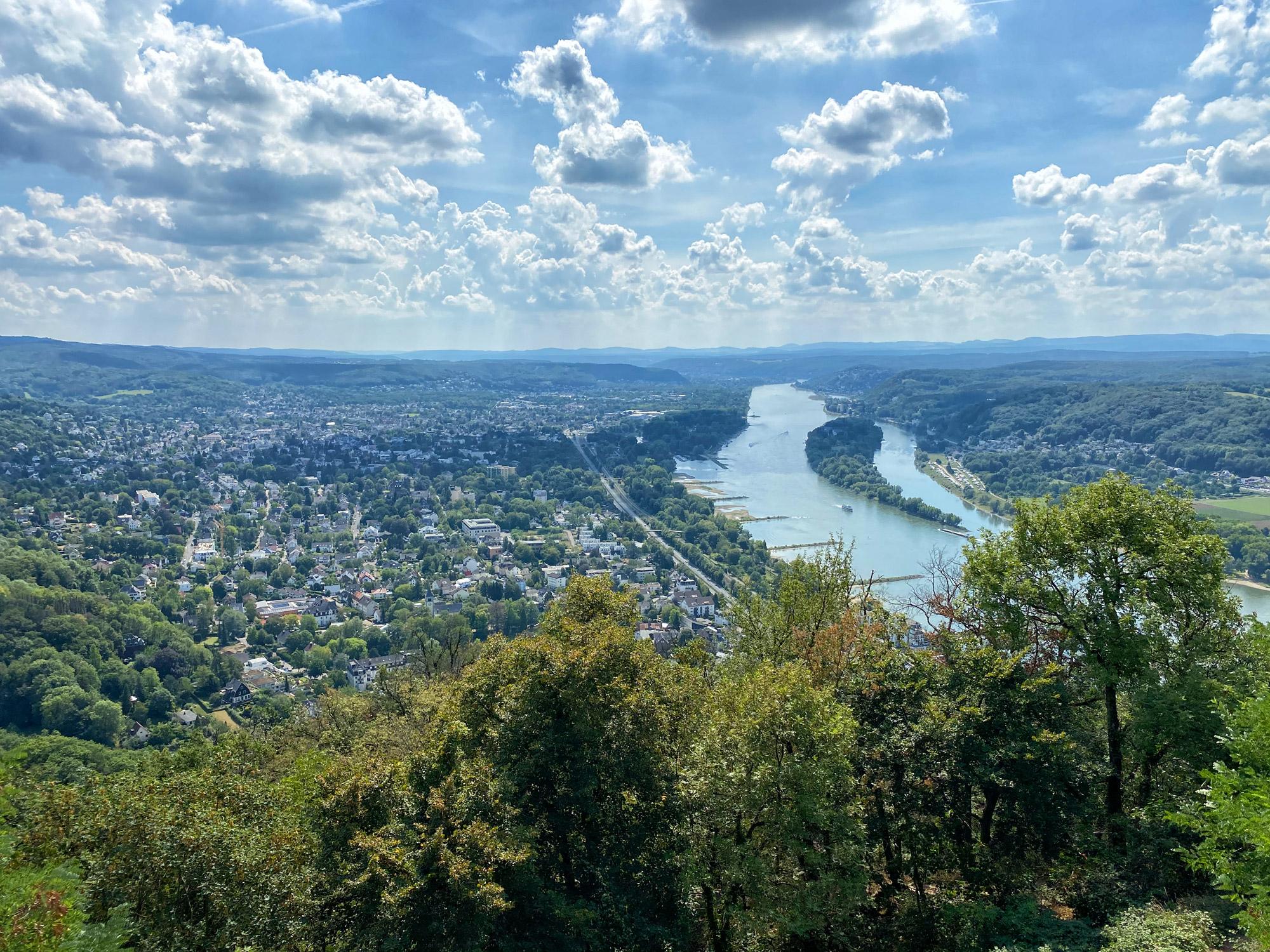 Uitzicht vanaf de Drachenfels