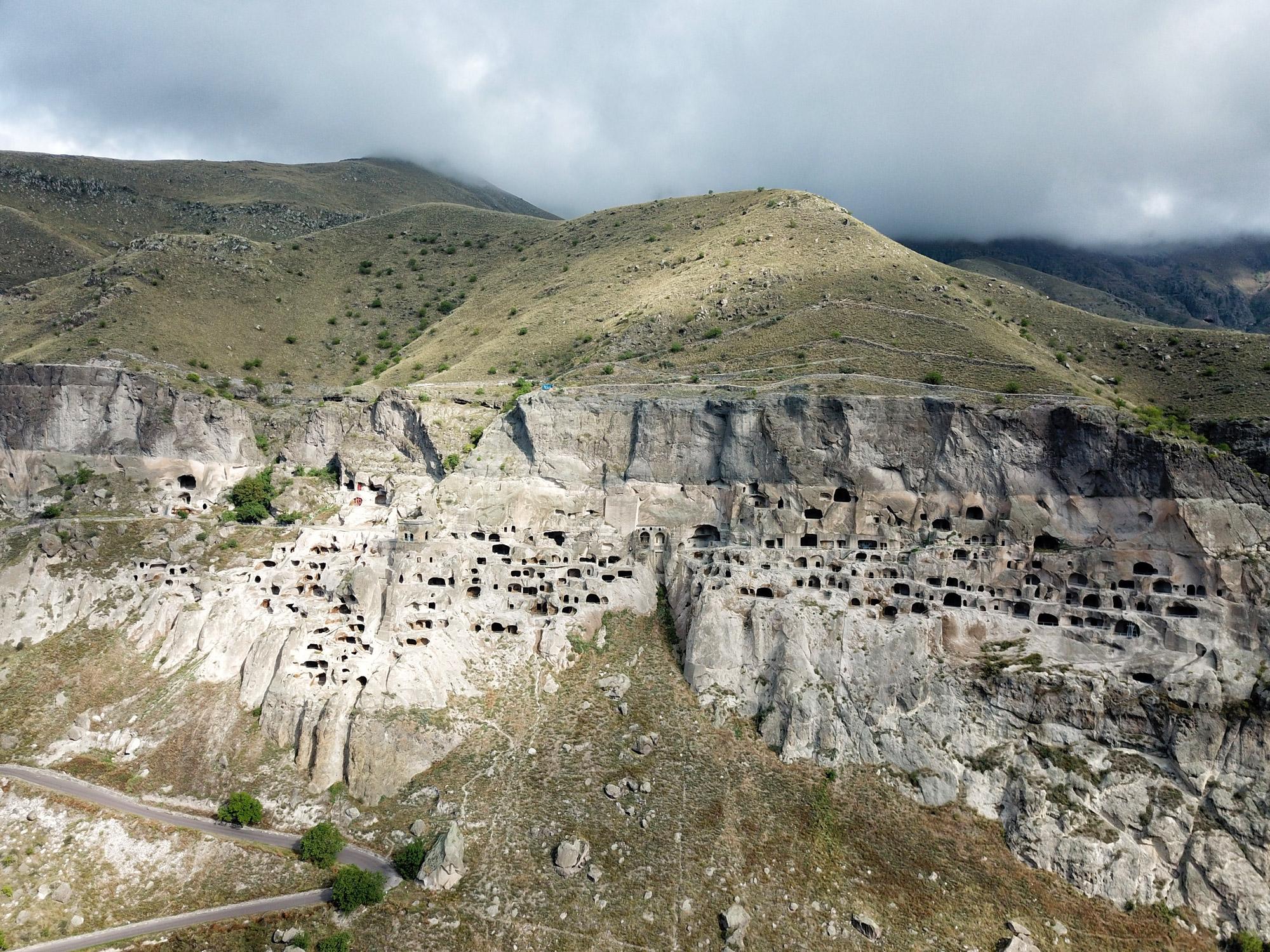 Vardzia, grottenstad in Georgië