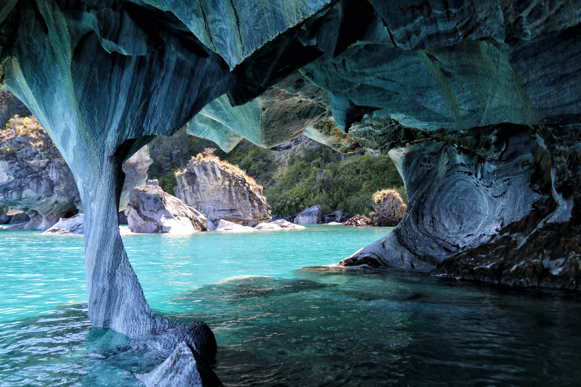 Marble Caves in Patagonië - Chili