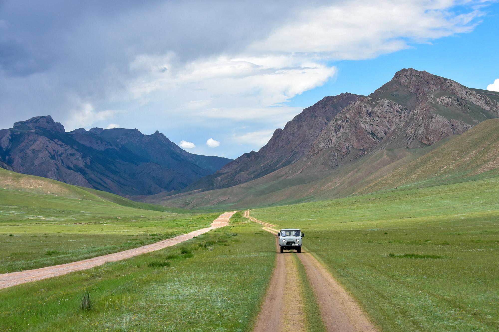 Reisroute Kirgizië - Naar Tash Rabat