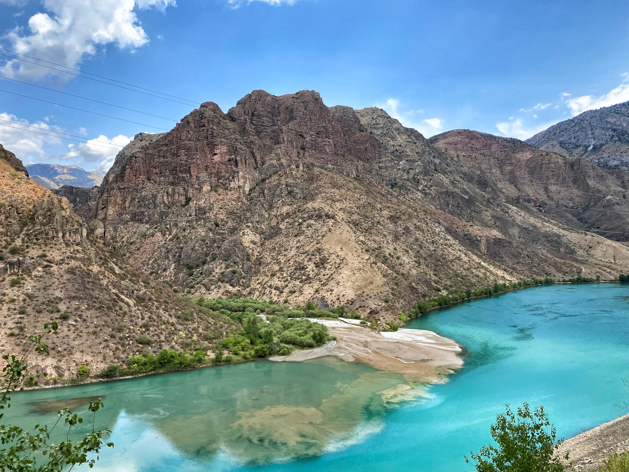 Reisroute Kirgizië - Naryn rivier